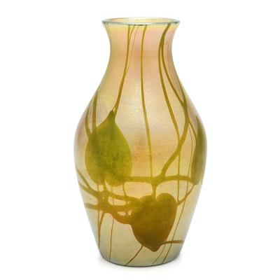 Tiffany Studios Decorated Favrile Glass Vase