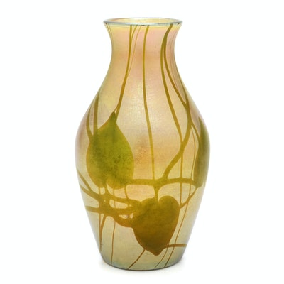 Tiffany Studios Decorated Favrile Glass Vase