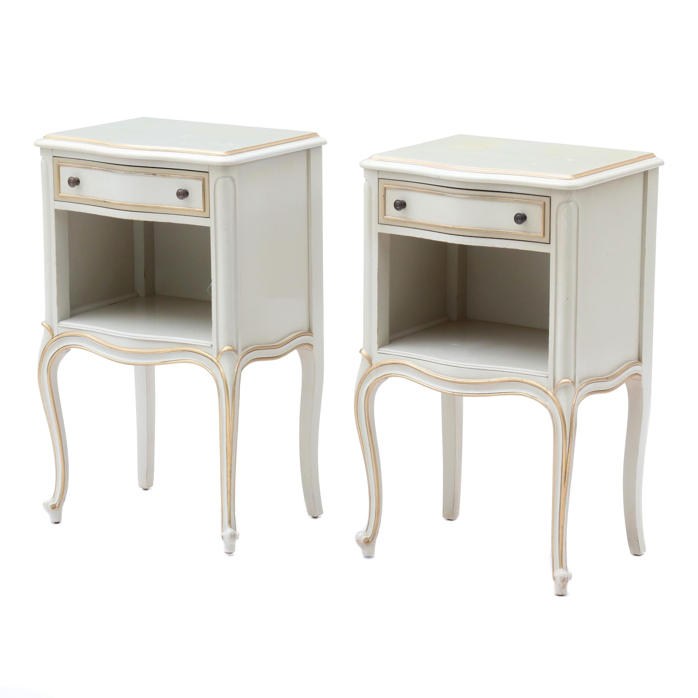 French Provincial Style Nightstands by Drexel, Mid 20th Century