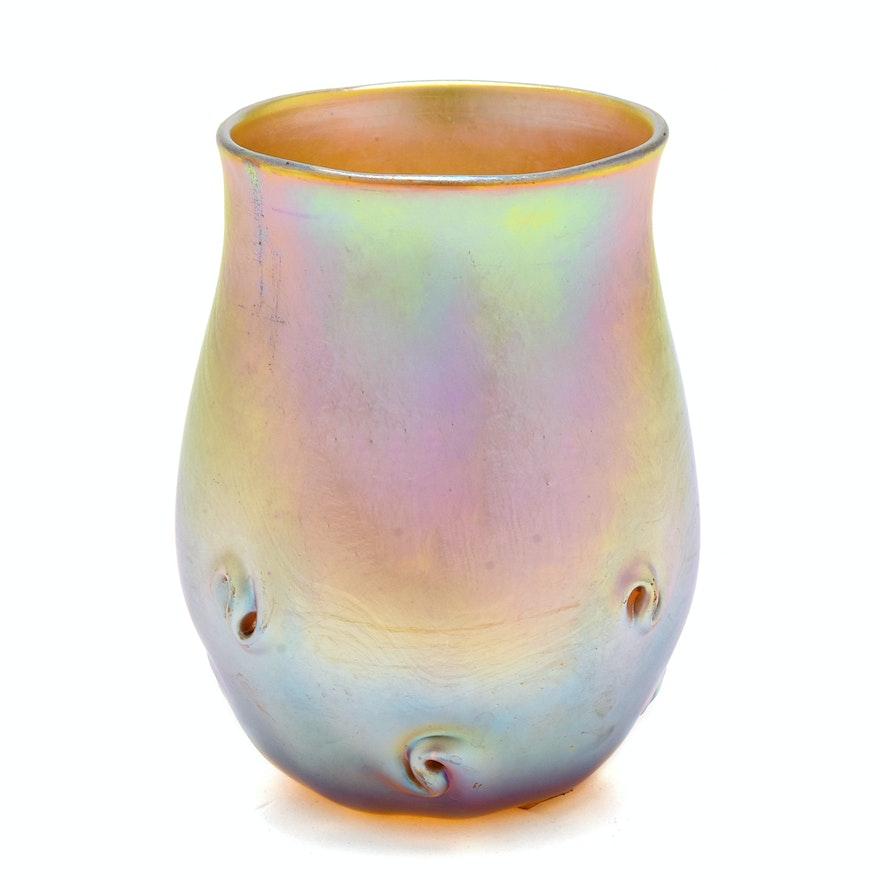tiffany studios favrile glass vase ebth