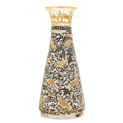Gallé Enameled and Gilt-Decorated Glass Vase