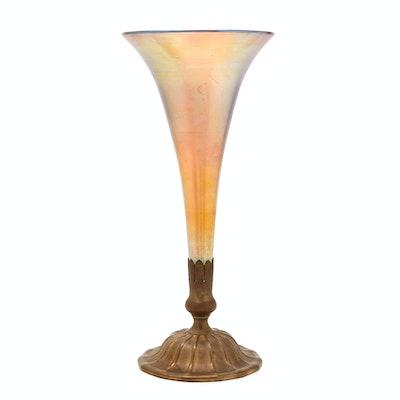 Tiffany Studios Favrile Glass and Gilt-Bronze Vase