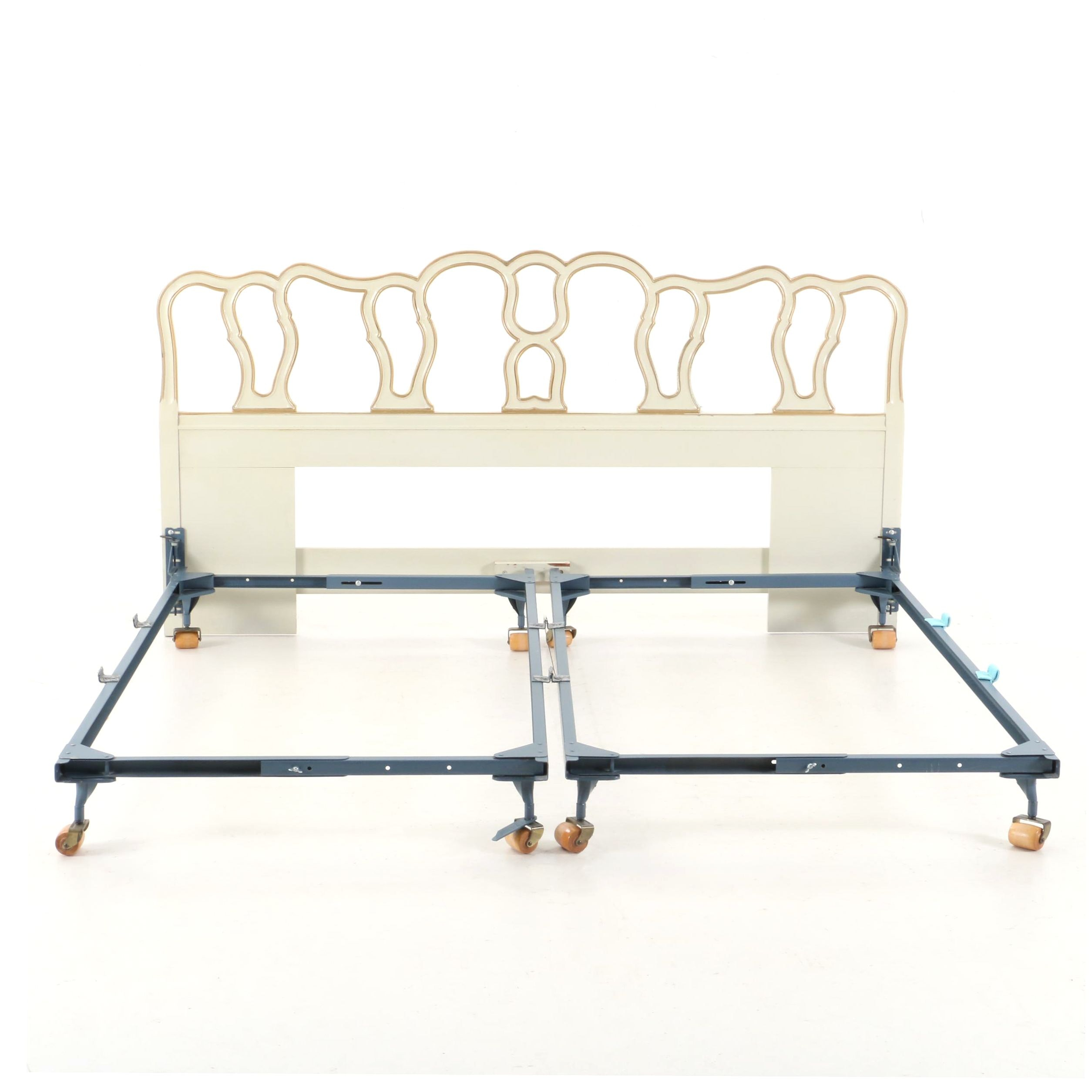 French Provincial Style Queen Size Headboard, Late 20th Century