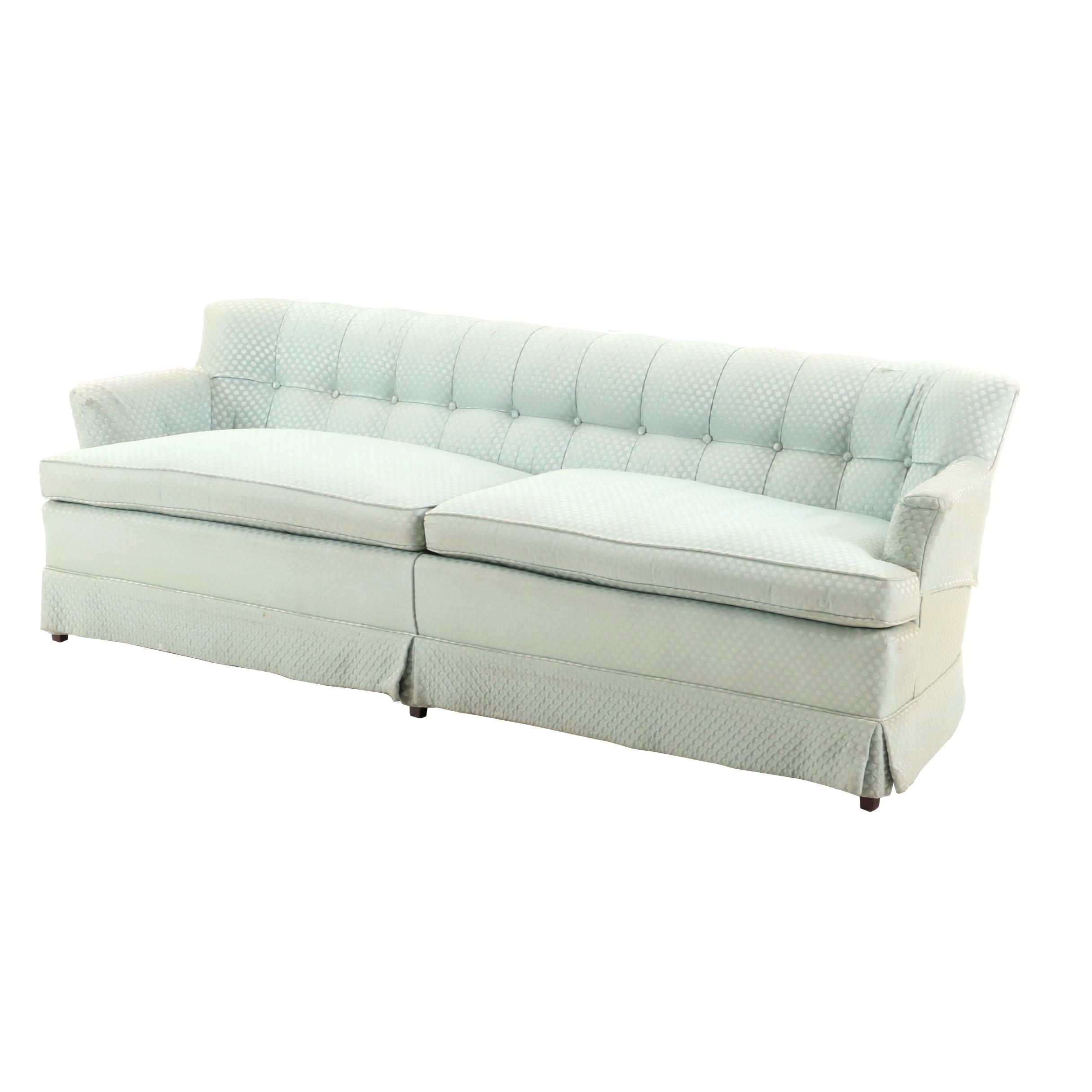 Pale Blue Upholstered Sofa, Late 20th Century