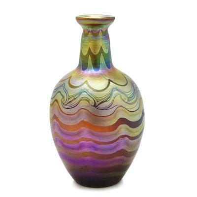 Tiffany Studios Decorated Favrile Glass Vase, circa 1900