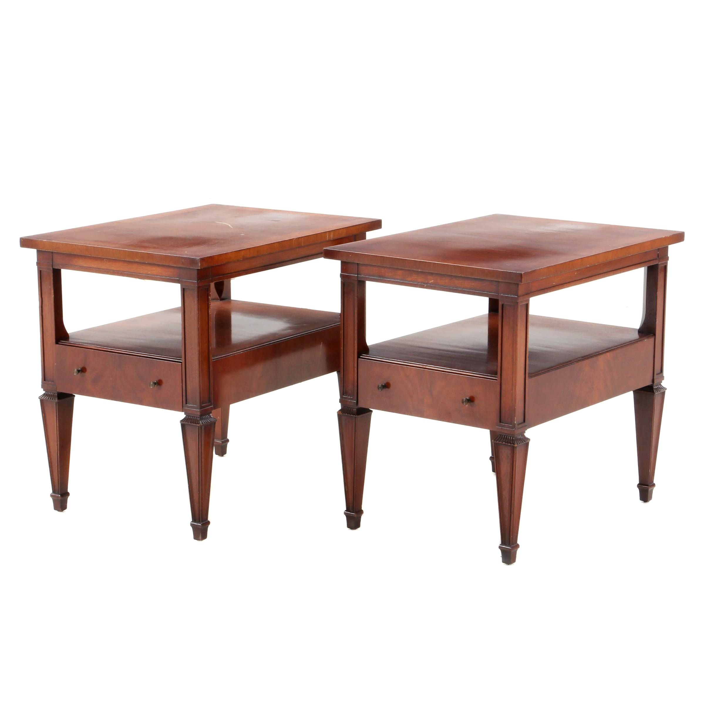 Mid-Century Mahogany End Tables by WM. A. Berkey Furniture, Mid 20th Century