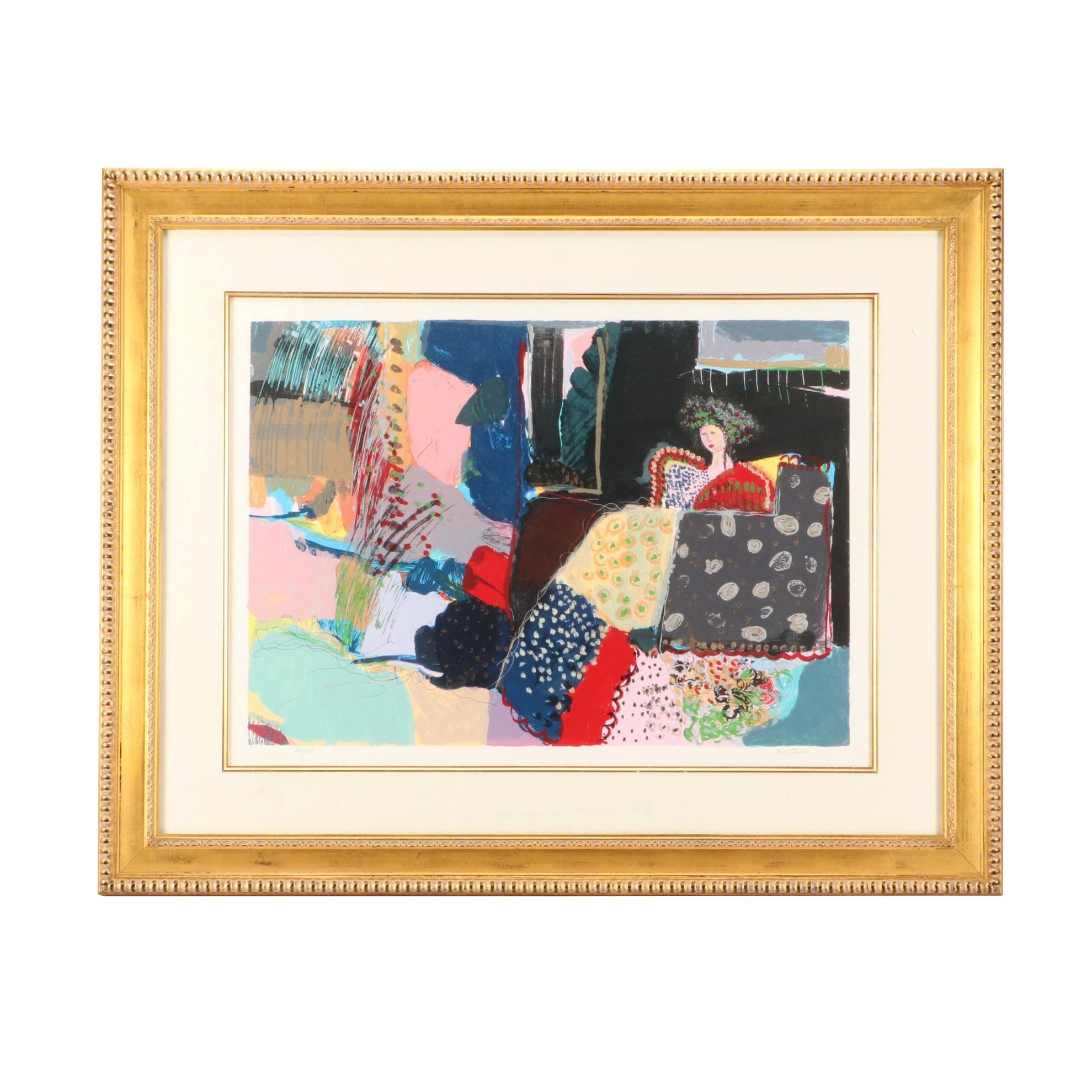 """Bracha Guy Limited Edition Serigraph """"A Piece of Tranquility"""""""