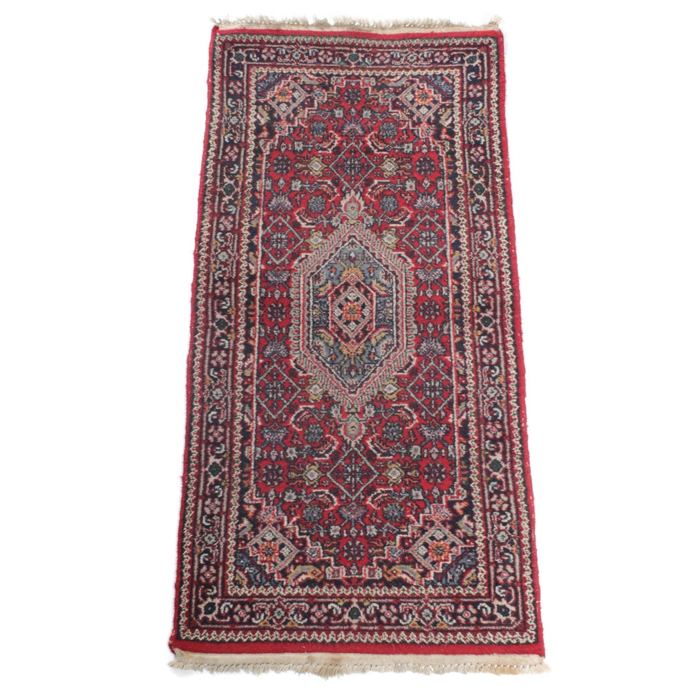 Old Hand-Knotted Indo-Persian Bijar Rug