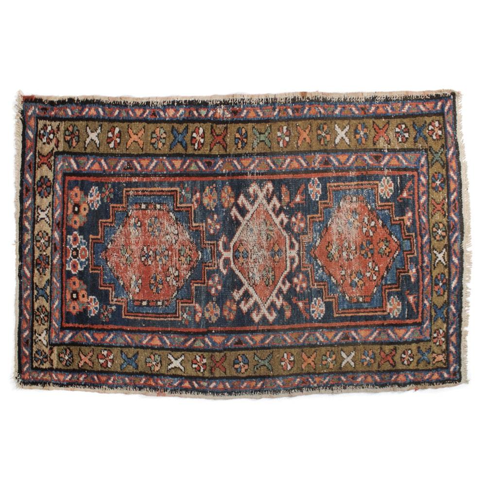 Circa 1890 Hand-Knotted Persian Karaja Rug