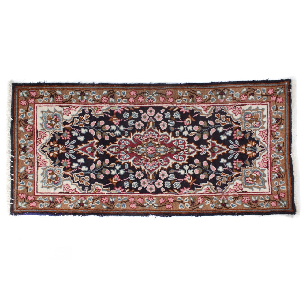 Old Hand-Knotted Persian Lavar Kerman Rug