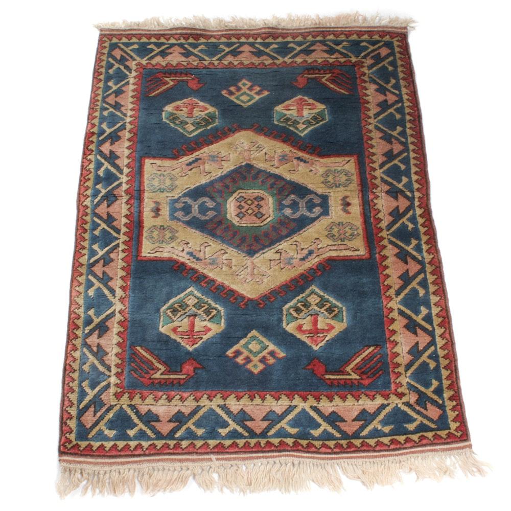 Hand-Knotted Caucasian Shiravan Rug