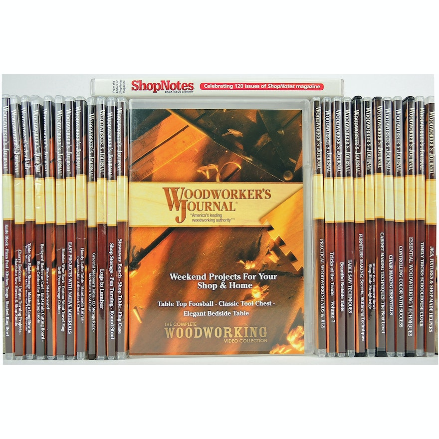 """Woodworker's Journal"" and ""ShopNotes"" DVDs"