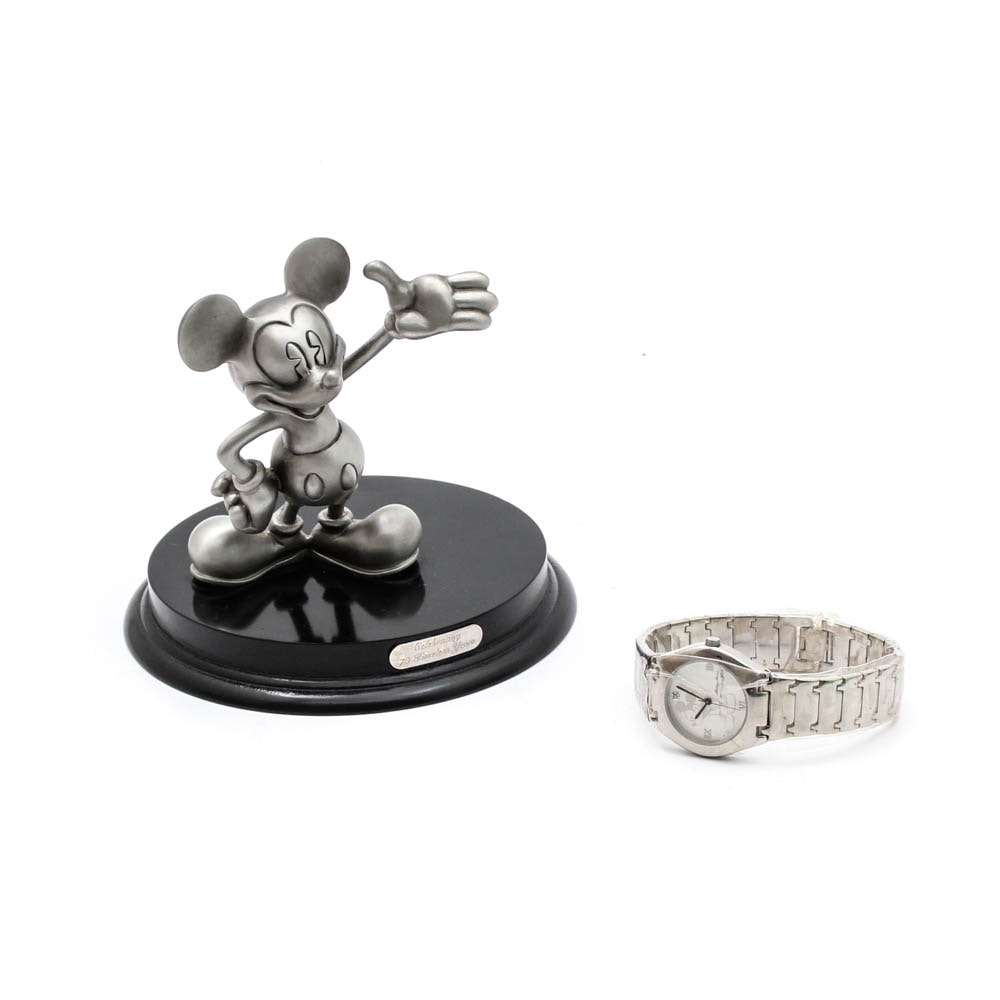 """Disney """"Celebrating 70 Timeless Years"""" Limited Edition Watch and Figurine"""