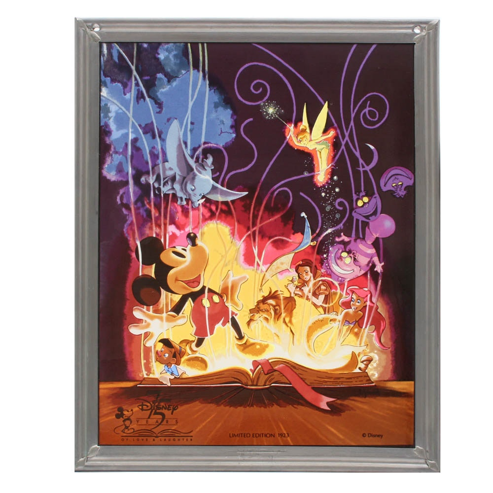 "Disney ""75 Years of Love & Laughter"" Limited Edition Glass Window Hanging"