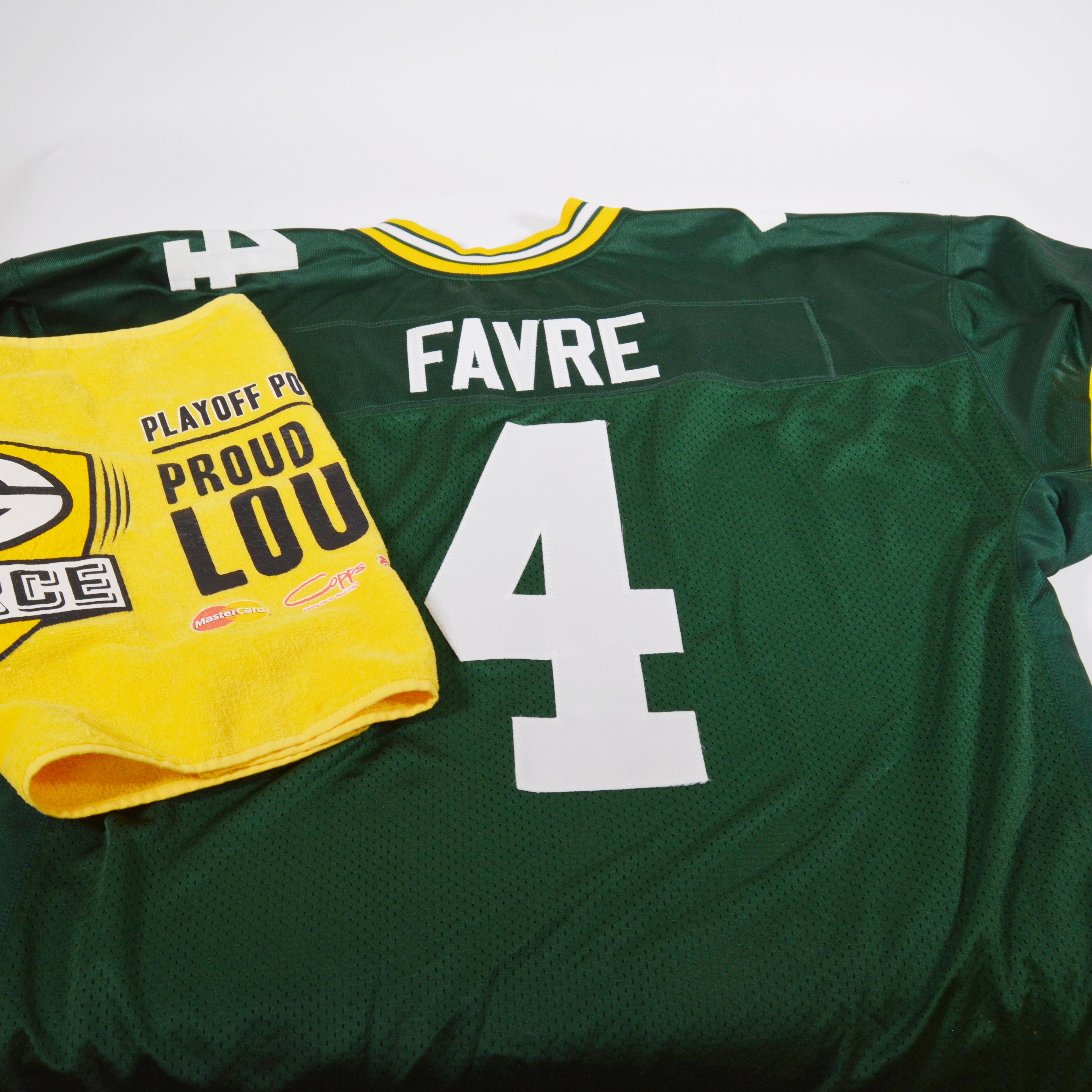 Brett Favre #4 Souvenir Green Bay Packers Reebok Football Jersey