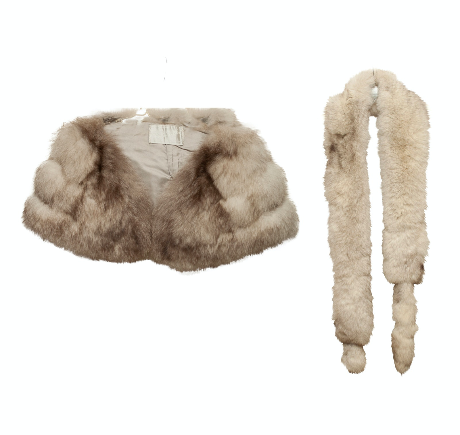 Vintage Fox Fur Stole and Fox Fur Stole with Tails