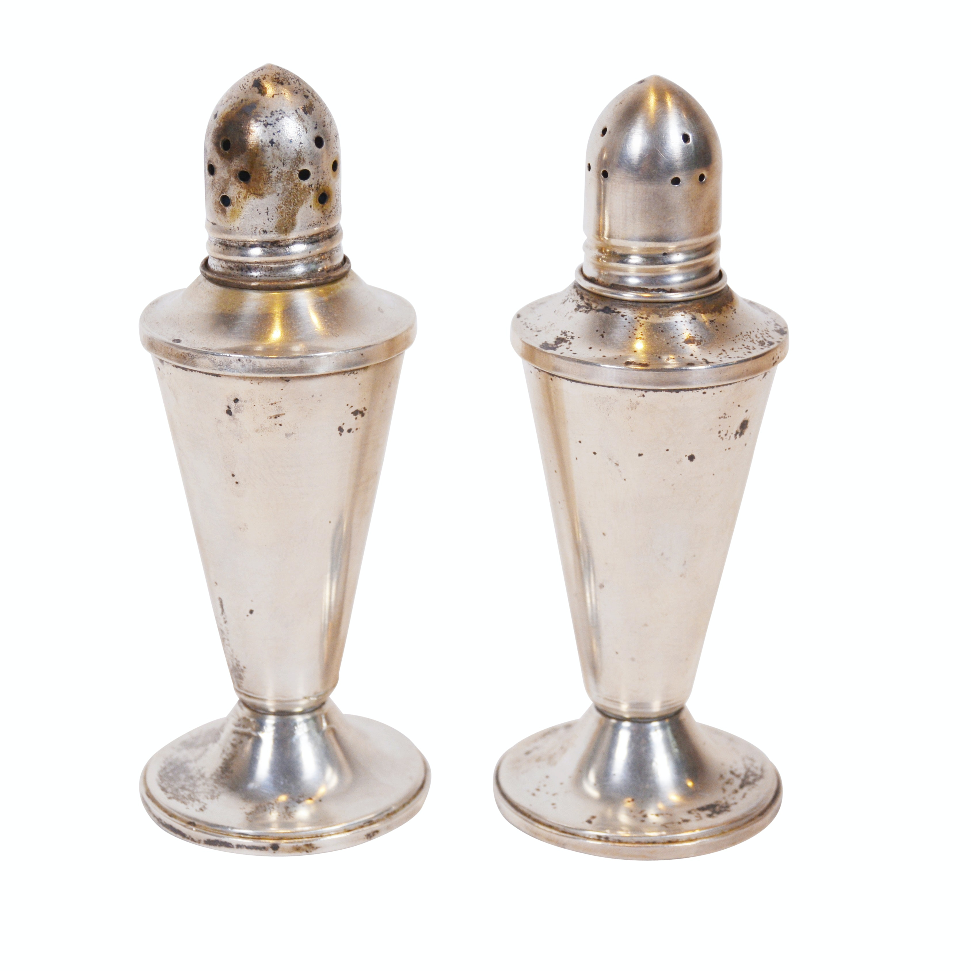 Duchin Weighted Sterling Silver Salt and Pepper Shakers