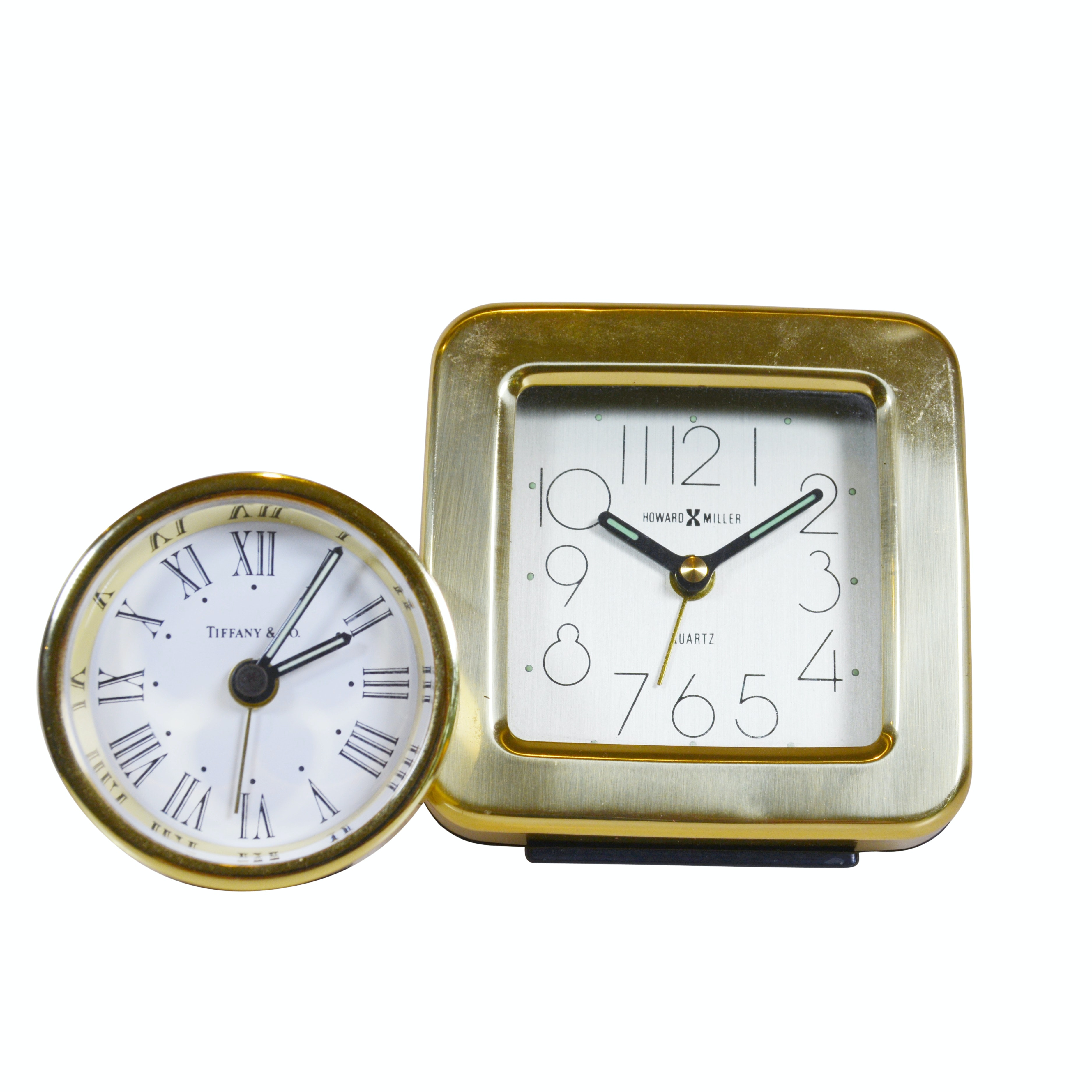 Tiffany & Co. Clock and Howard Miller Quartz Desk Clocks