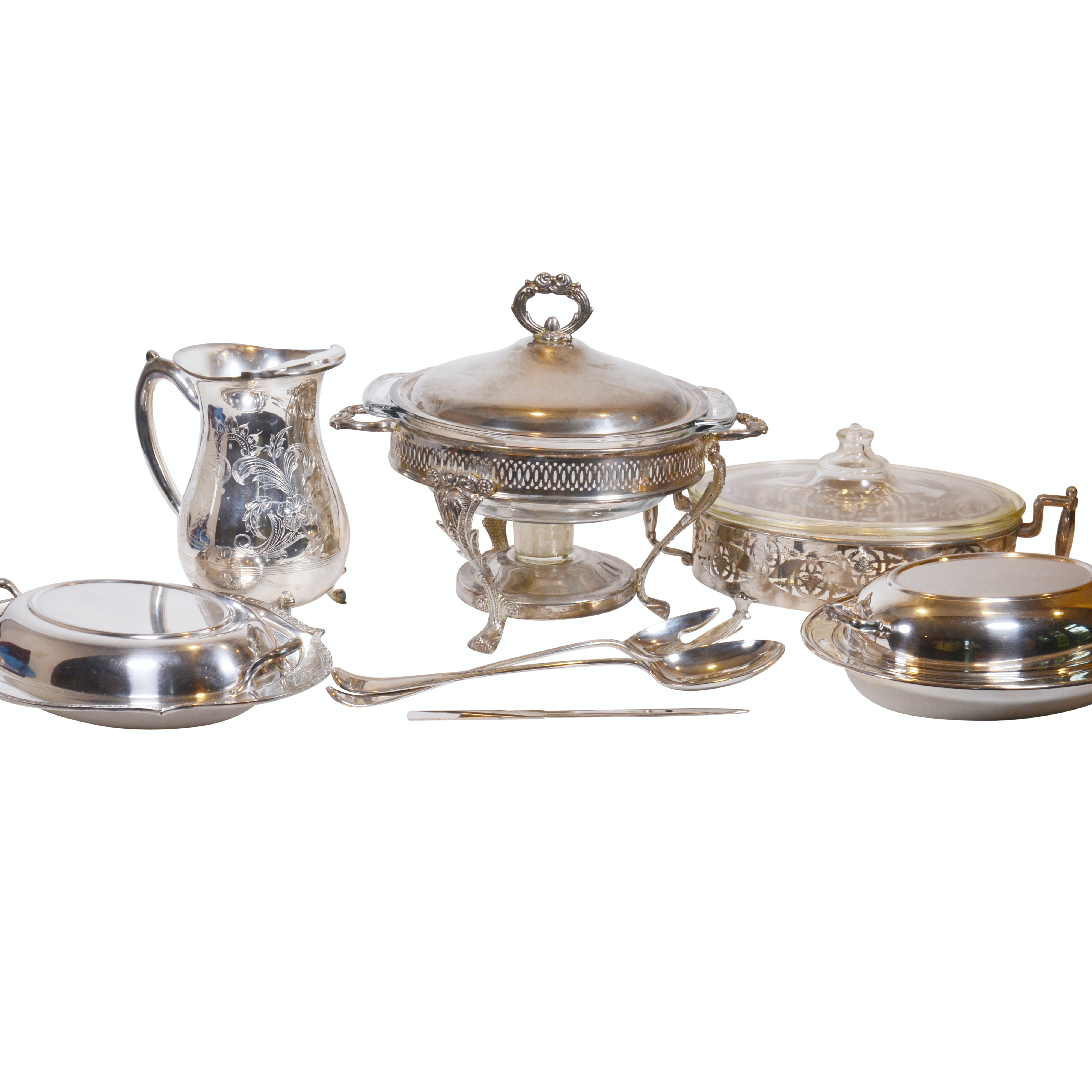 Silver Plate Serveware Including Continental and RH Stearns & Co.