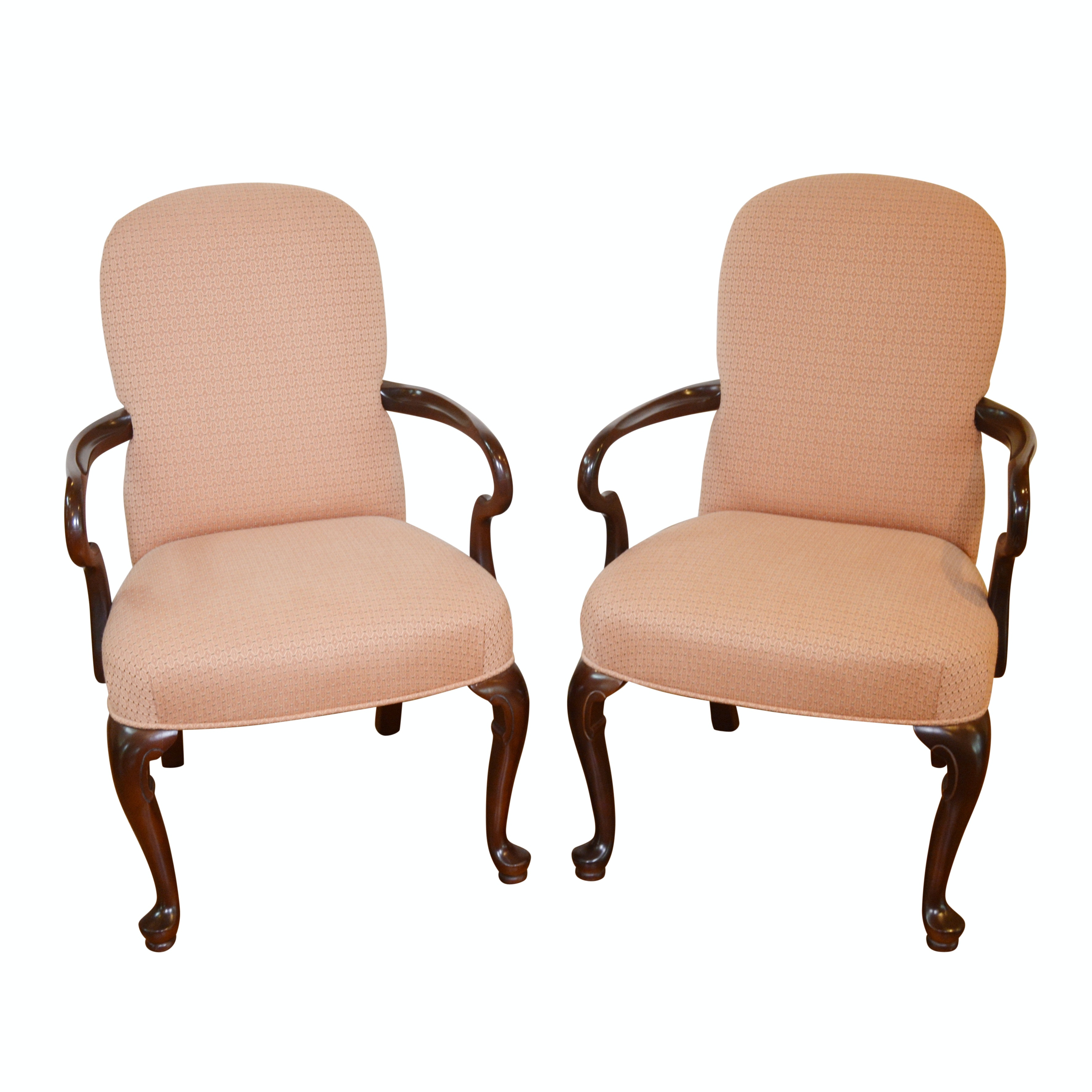 Contemporary Pair of Upholstered Armchairs by Ethan Allen, Late 20th Century
