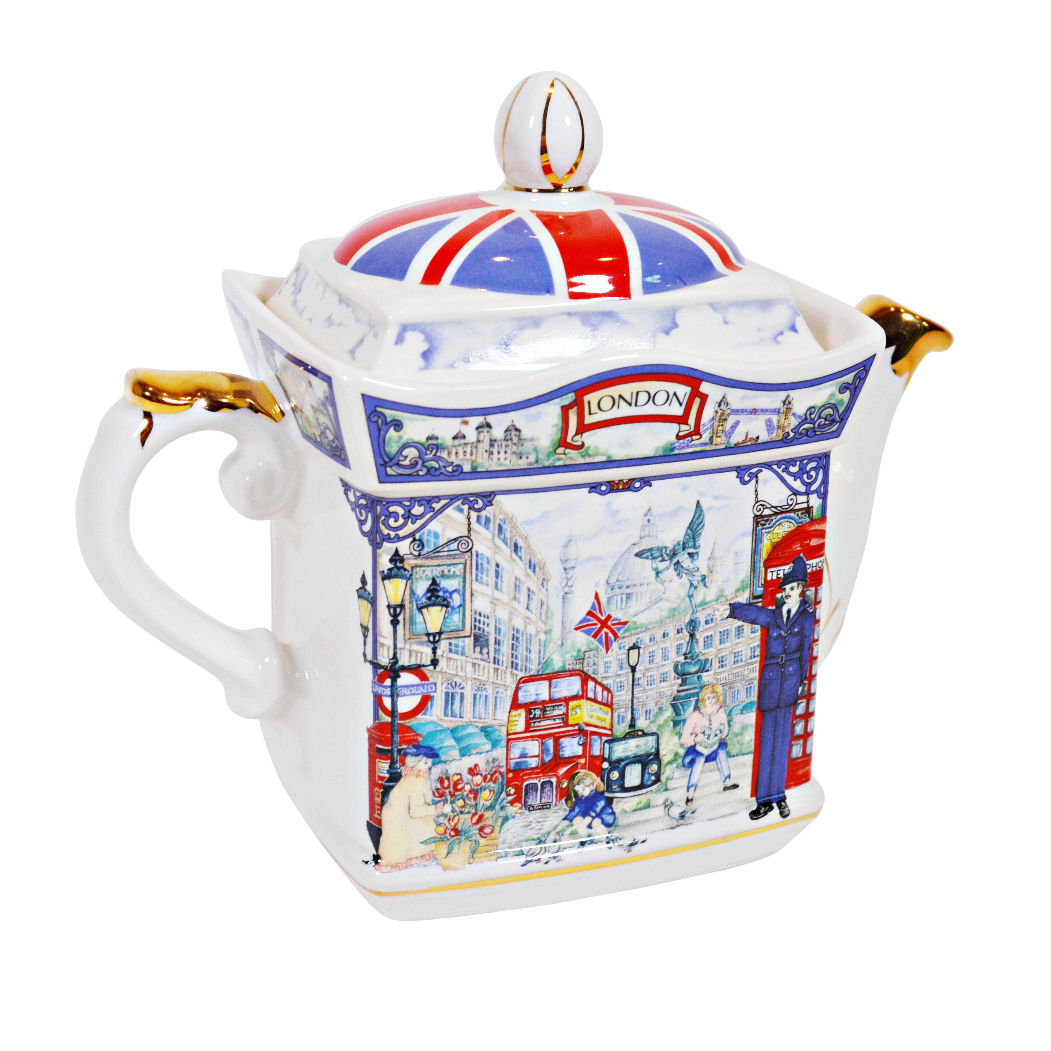 "Sadler ""Piccadilly"" London Heritage Collection Porcelain Teapot"