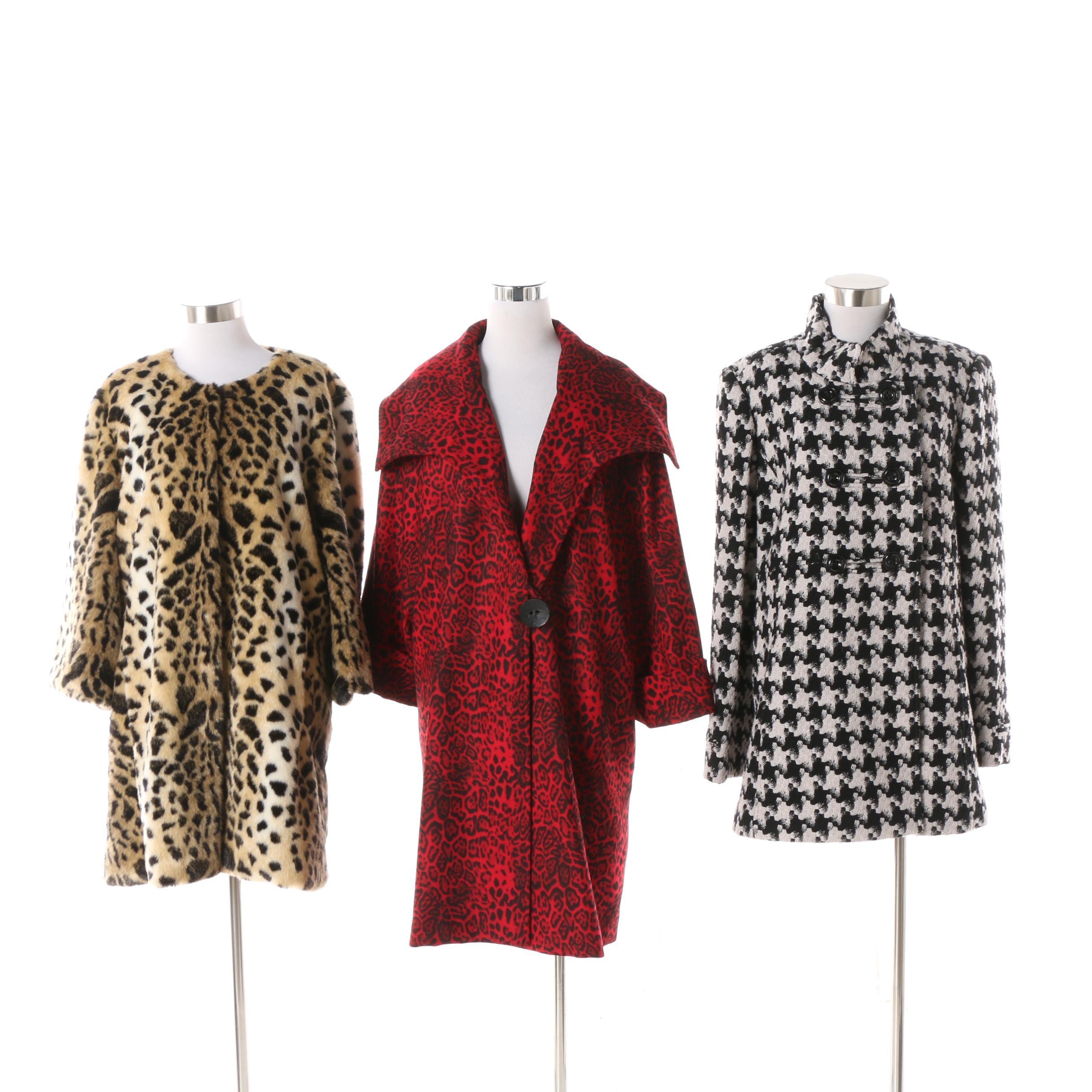 Tahari, Caroline Rose and Fabulous Furs Printed Coats