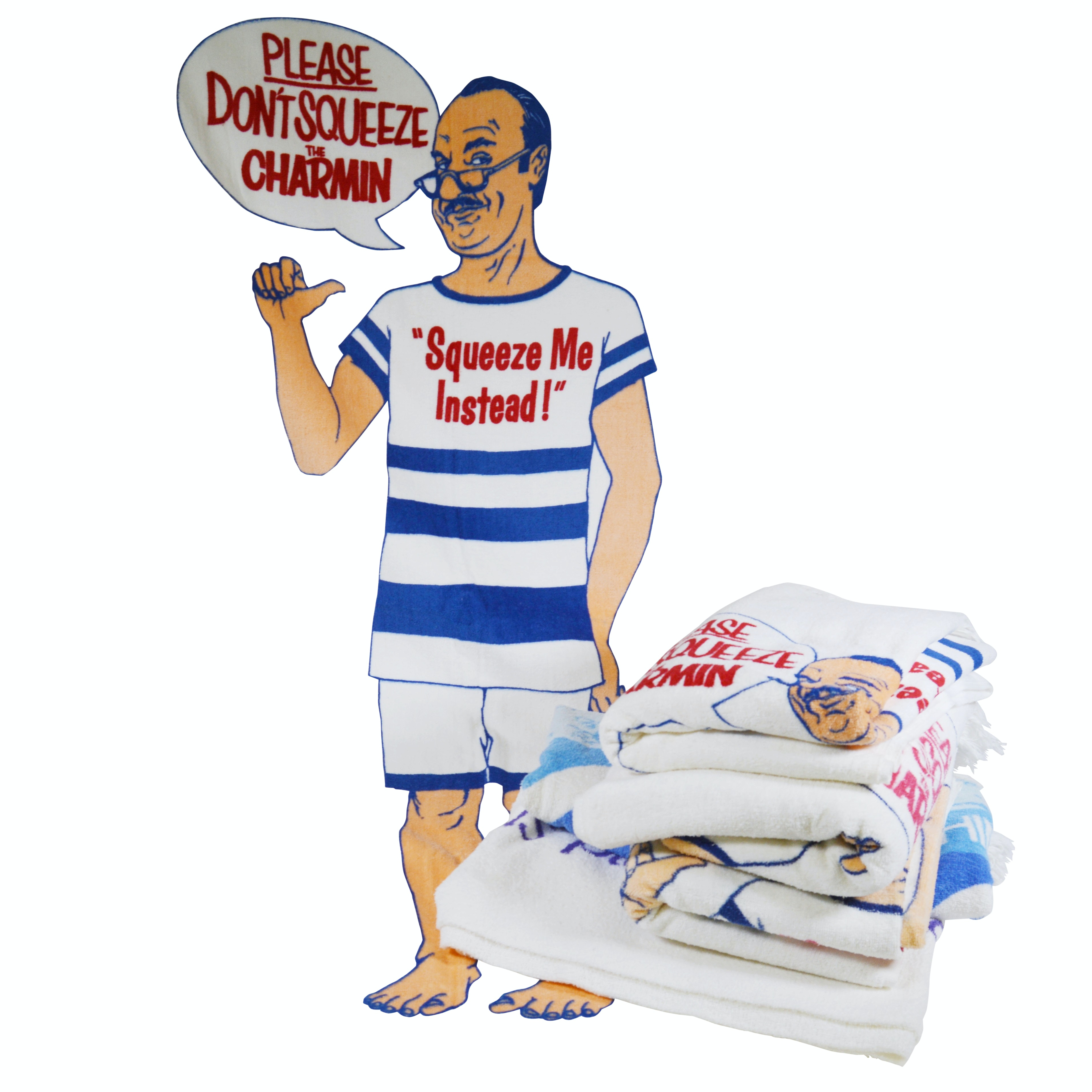 "Procter & Gamble ""Don't Squeeze the Charmin"" and Other Beach Towels"