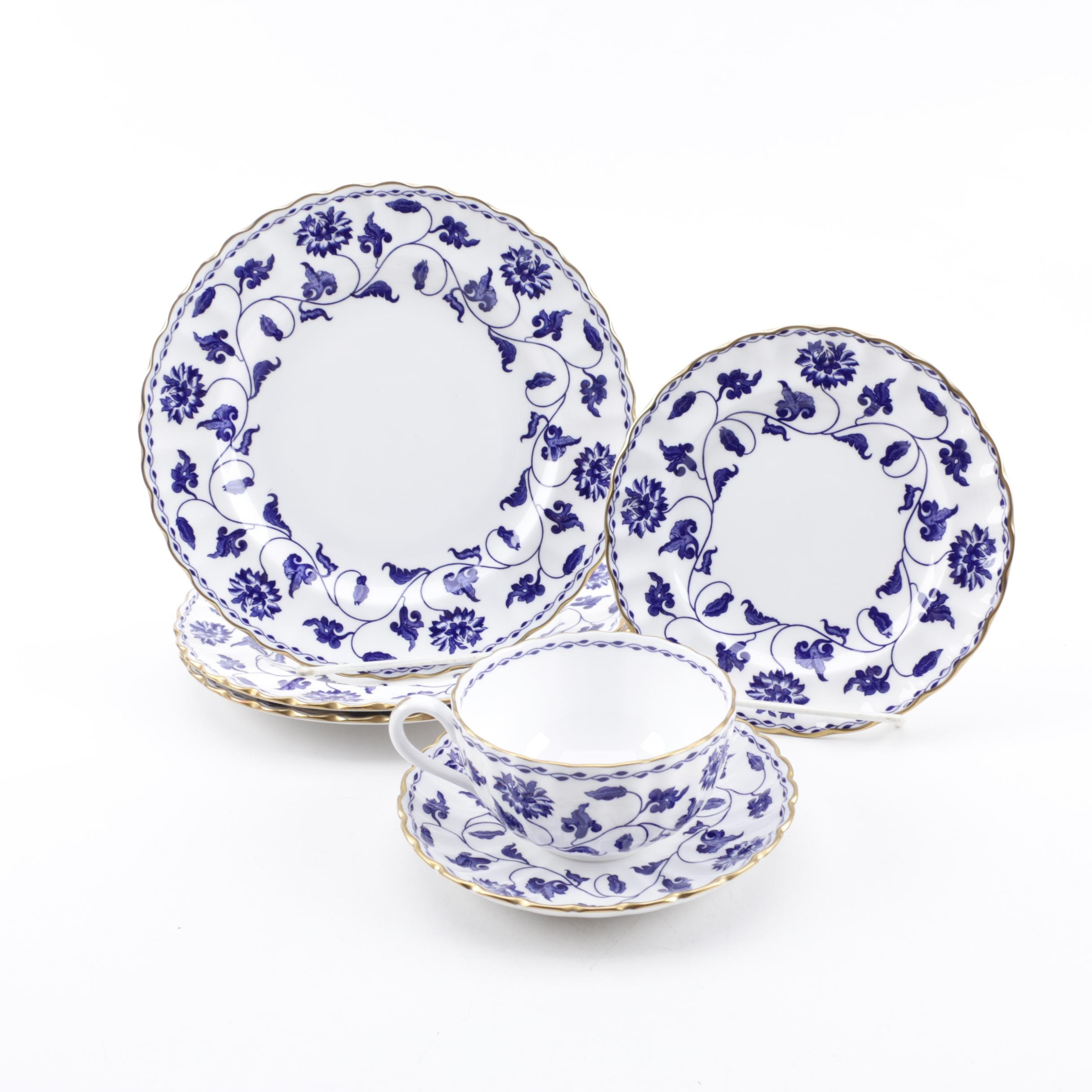 """Spode """"Blue Colonel"""" Bone China Plates and Teacup"""