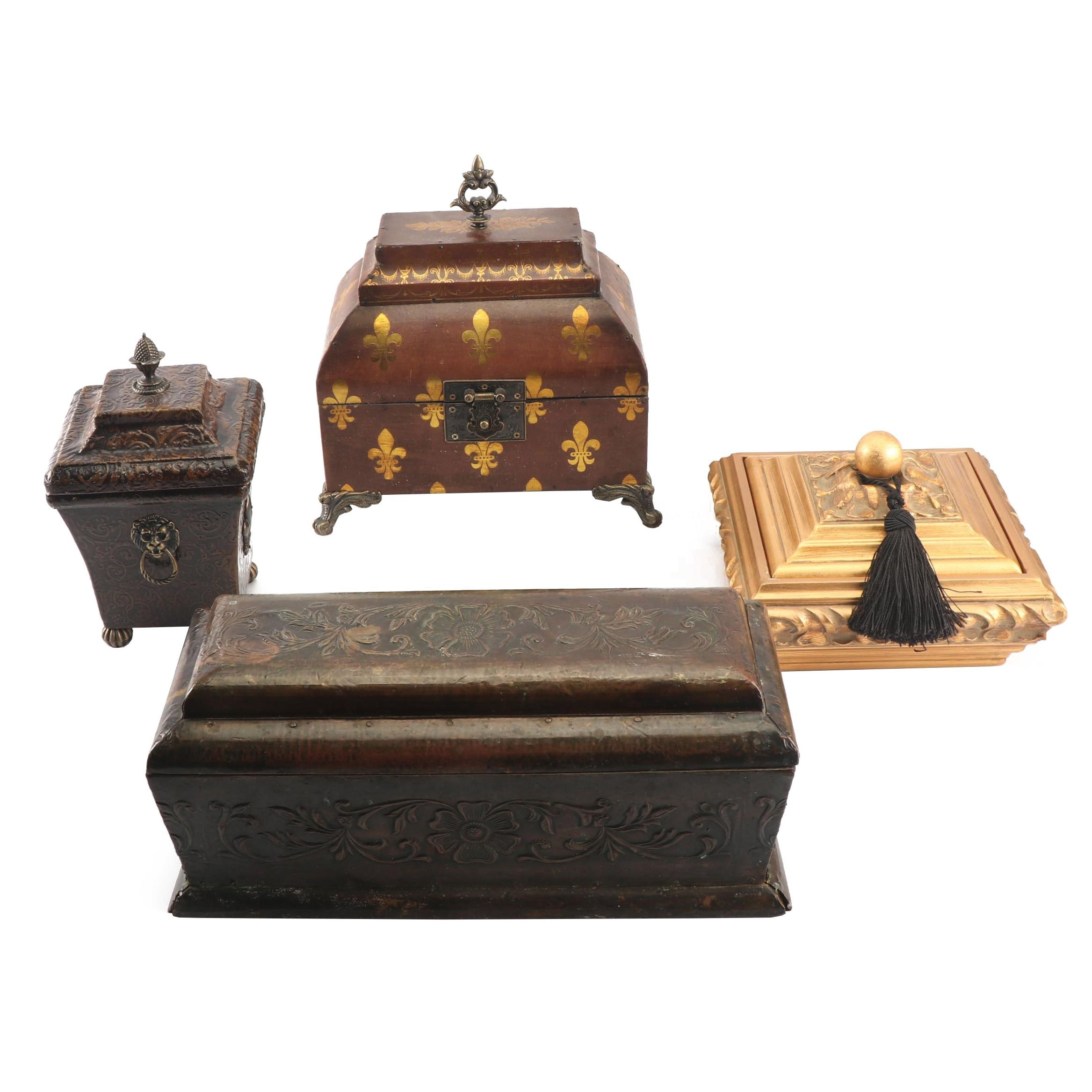 Antique and Contemporary Storage Boxes