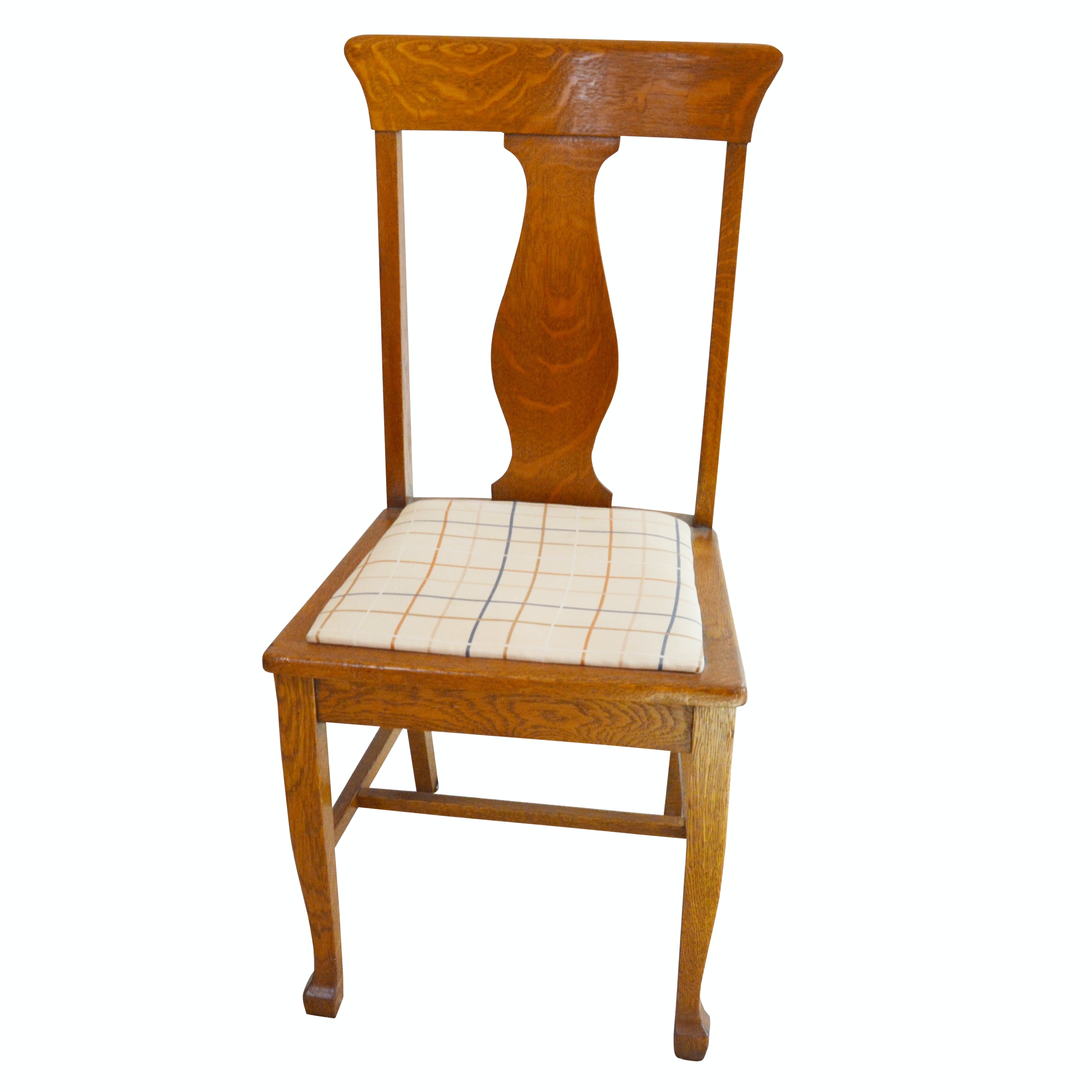 Federal Style Oak Side Chair, Early 20th Century