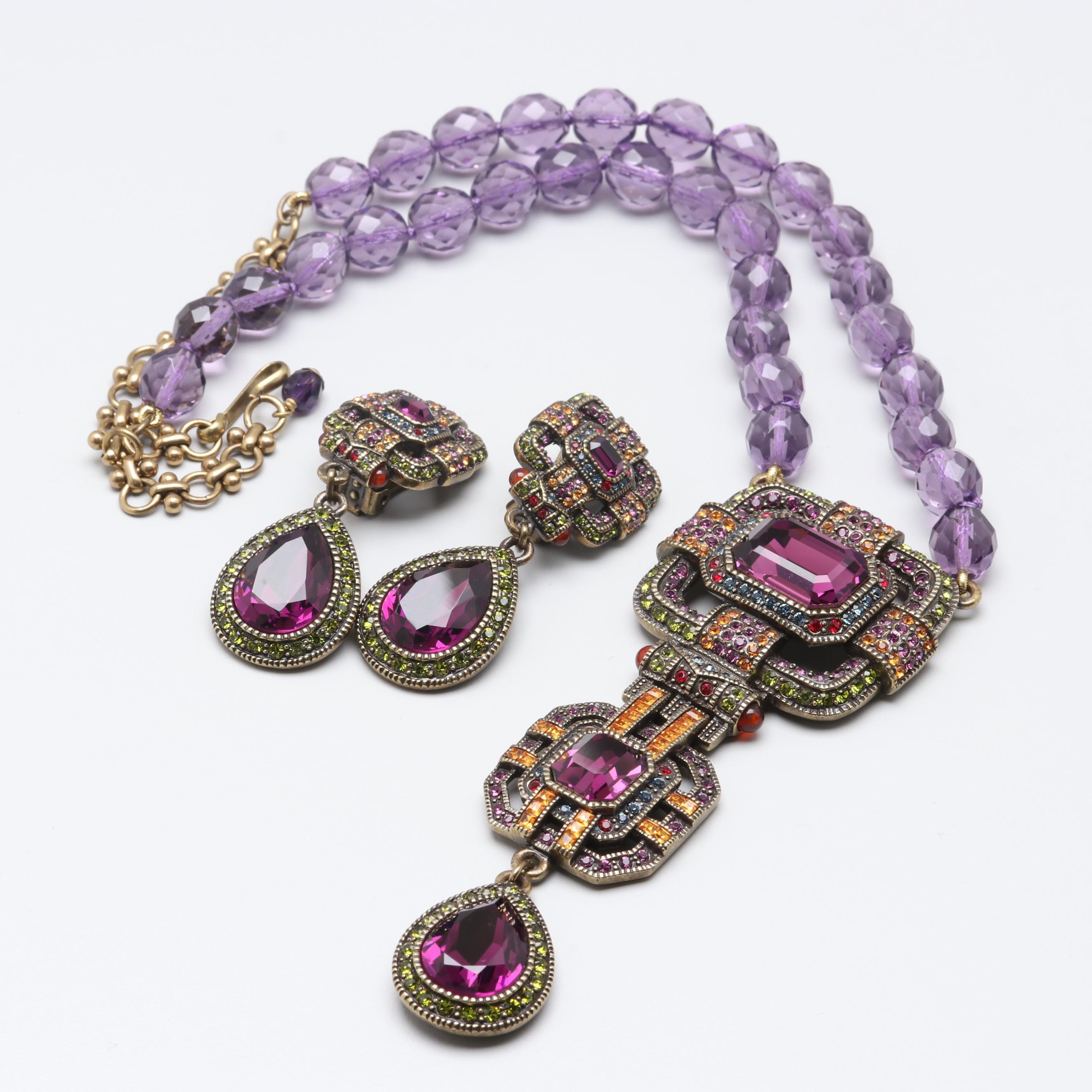 Heidi Daus Costume Jewelry with Glass