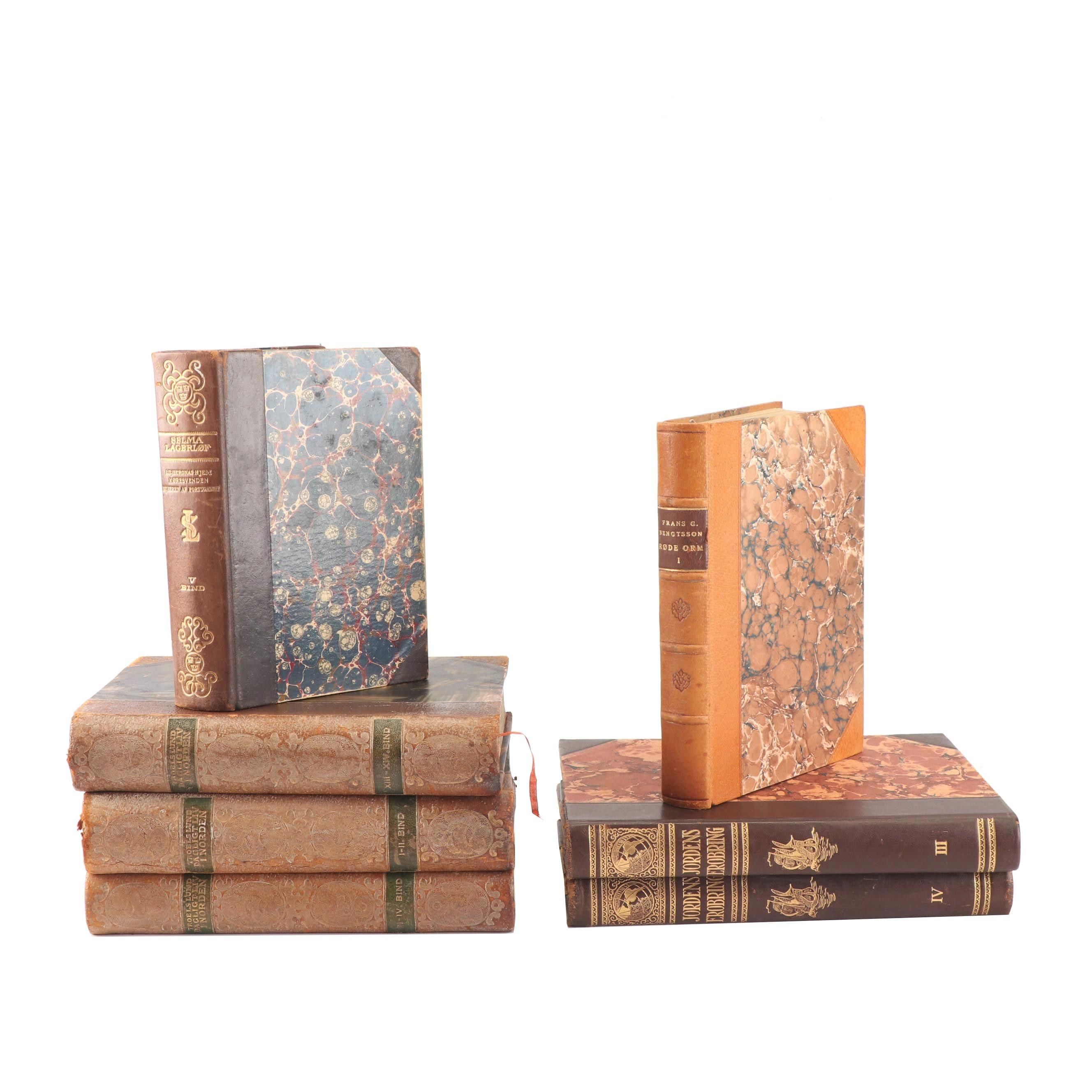Vintage Danish and Norwegian Books