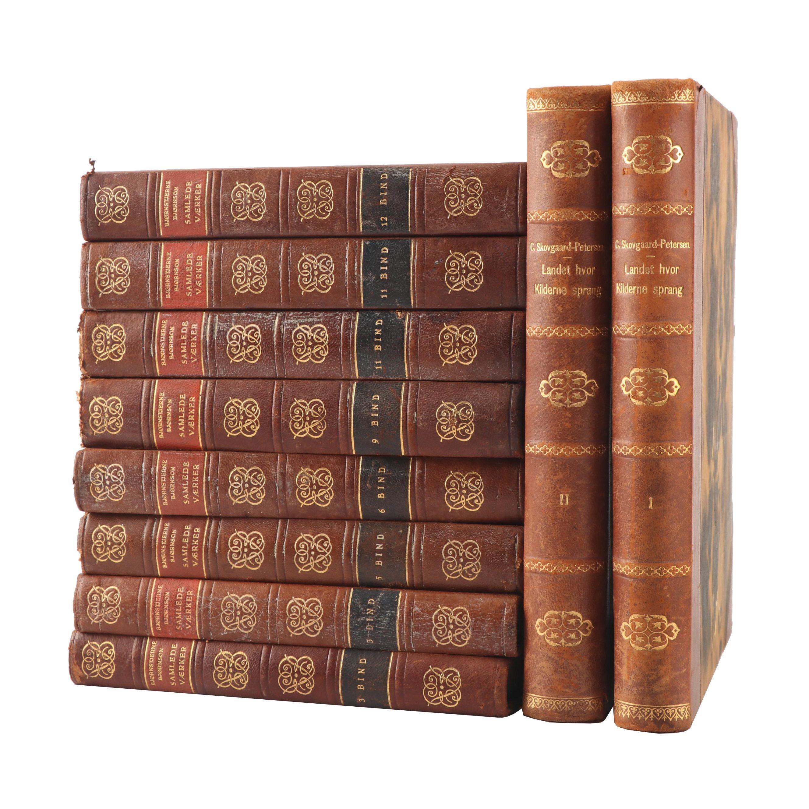 """1930s """"Bjørnstjerne Bjørnson Samlede Værker"""" and Other Books"""