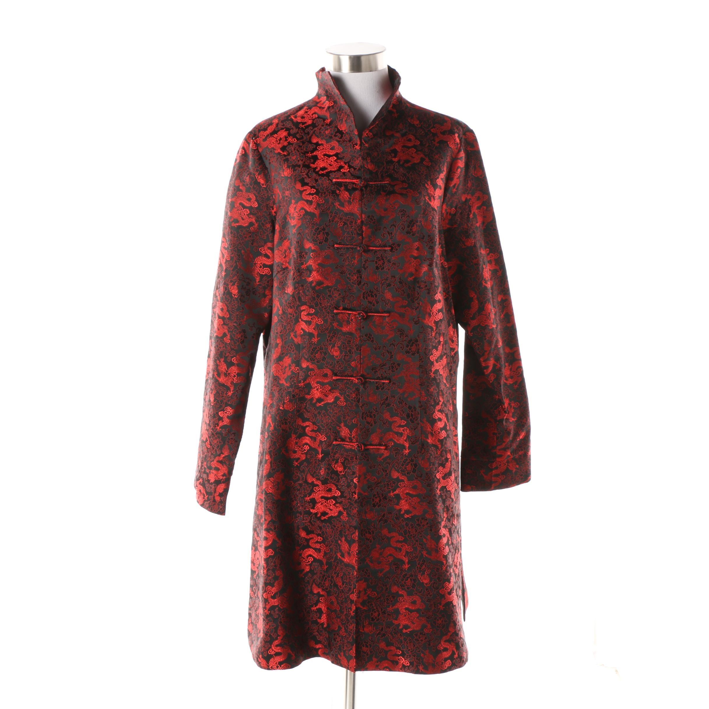 Chinese Dragon Silk Jacket in Silk Brocade with Dragon Motif