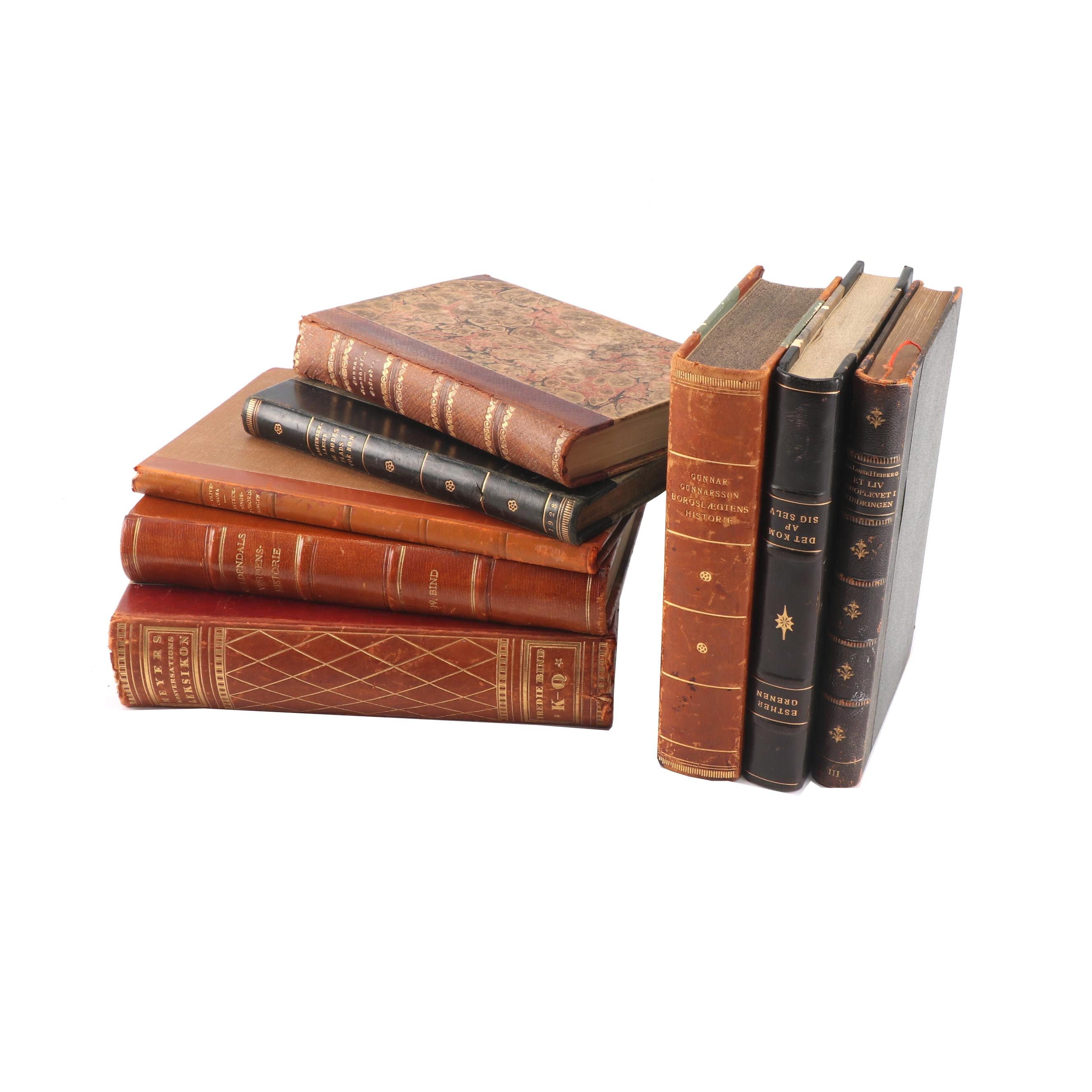 "1928 ""Borgslægtens Historie"" by Gunnar Gunnarsson and Other Books"