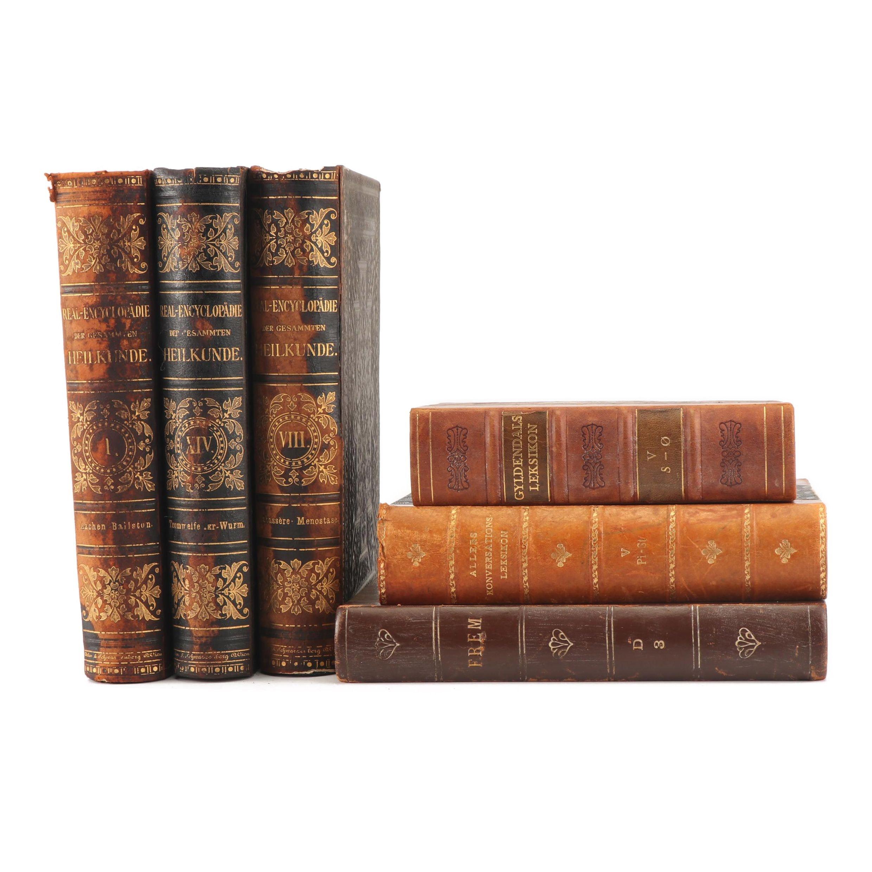 """1881 """"Real-Encyclopädie der Gesammten Heilkunde"""" and Other Books"""