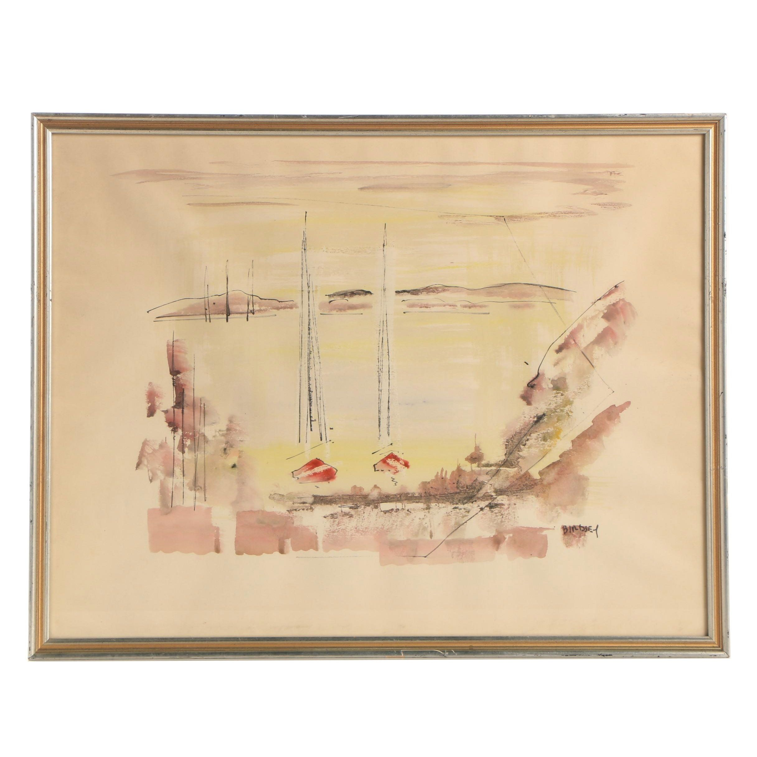 Alfred Birdsey Watercolor Painting