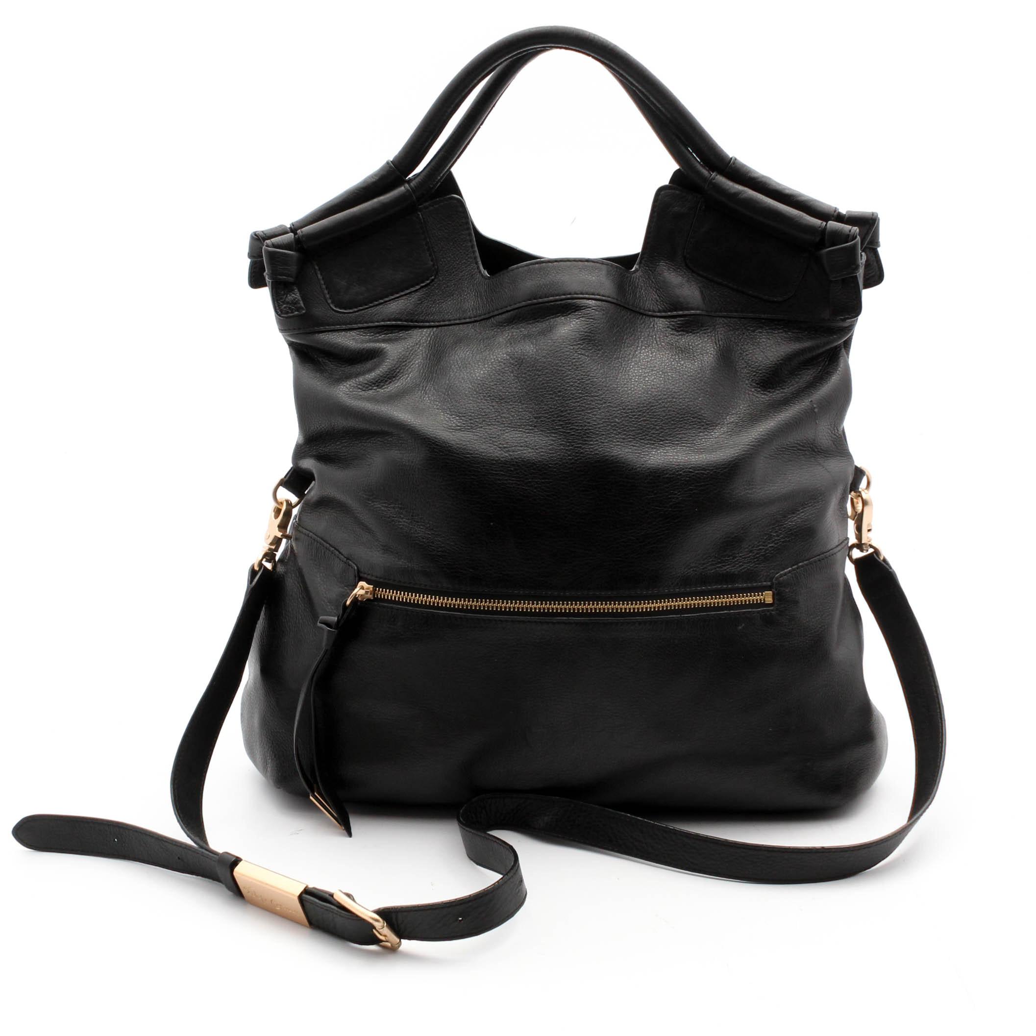 Foley & Corinna Black Leather Bag