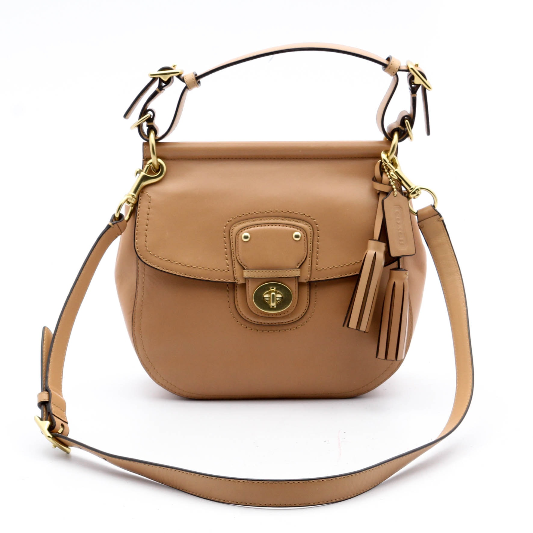 Coach Willis Legacy Leather Satchel