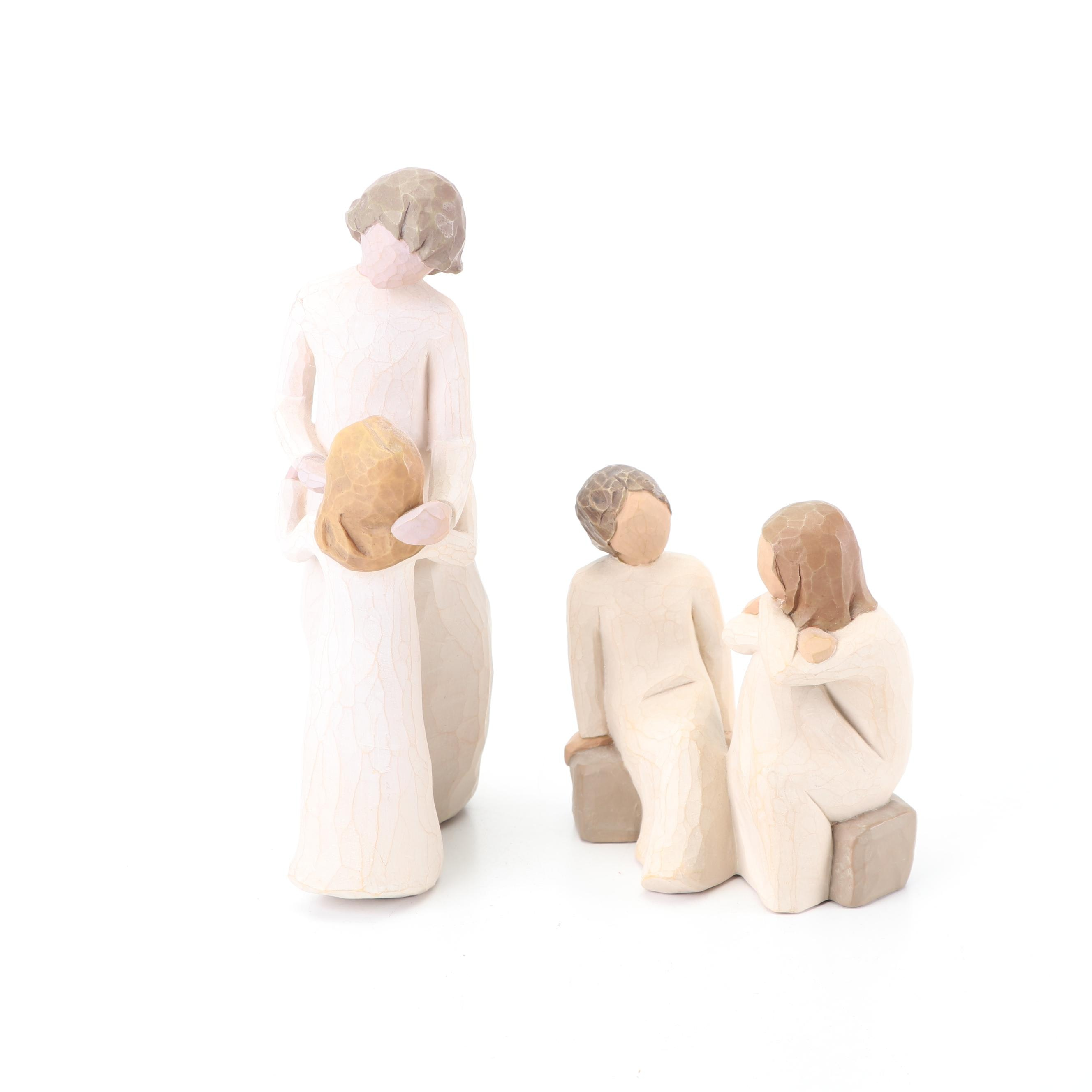 """Willow Tree """"Mother and Daughter"""" and """"Heart and Soul"""" Figurines"""