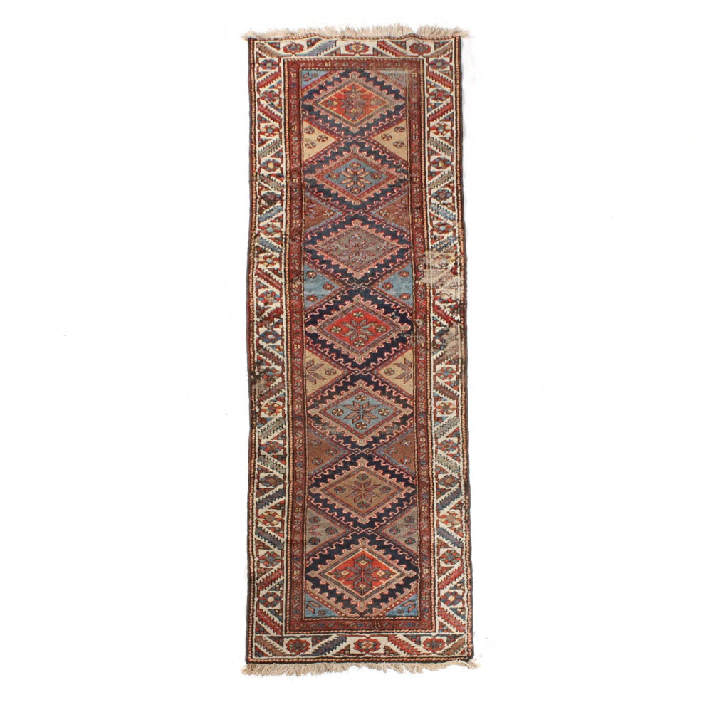 Antique Hand-Knotted Northwest Persian Runner