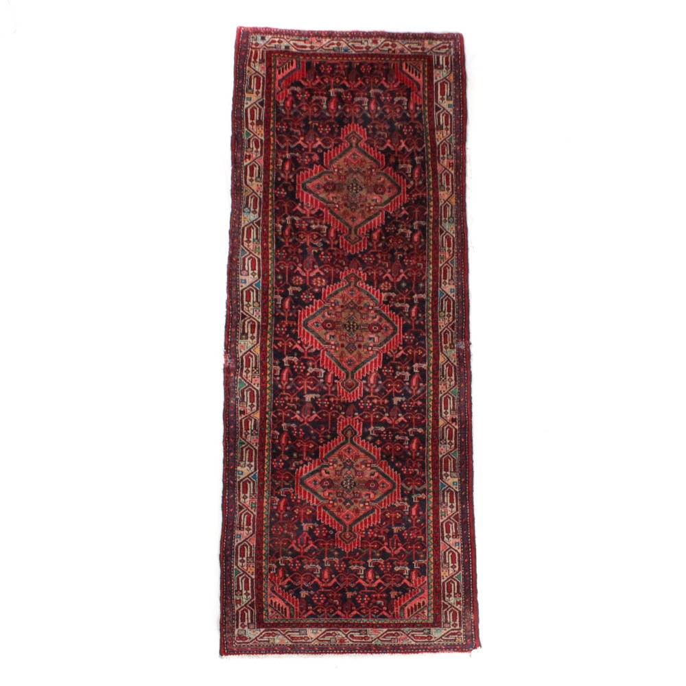 Semi-Antique Hand-Knotted Persian Malayer Runner