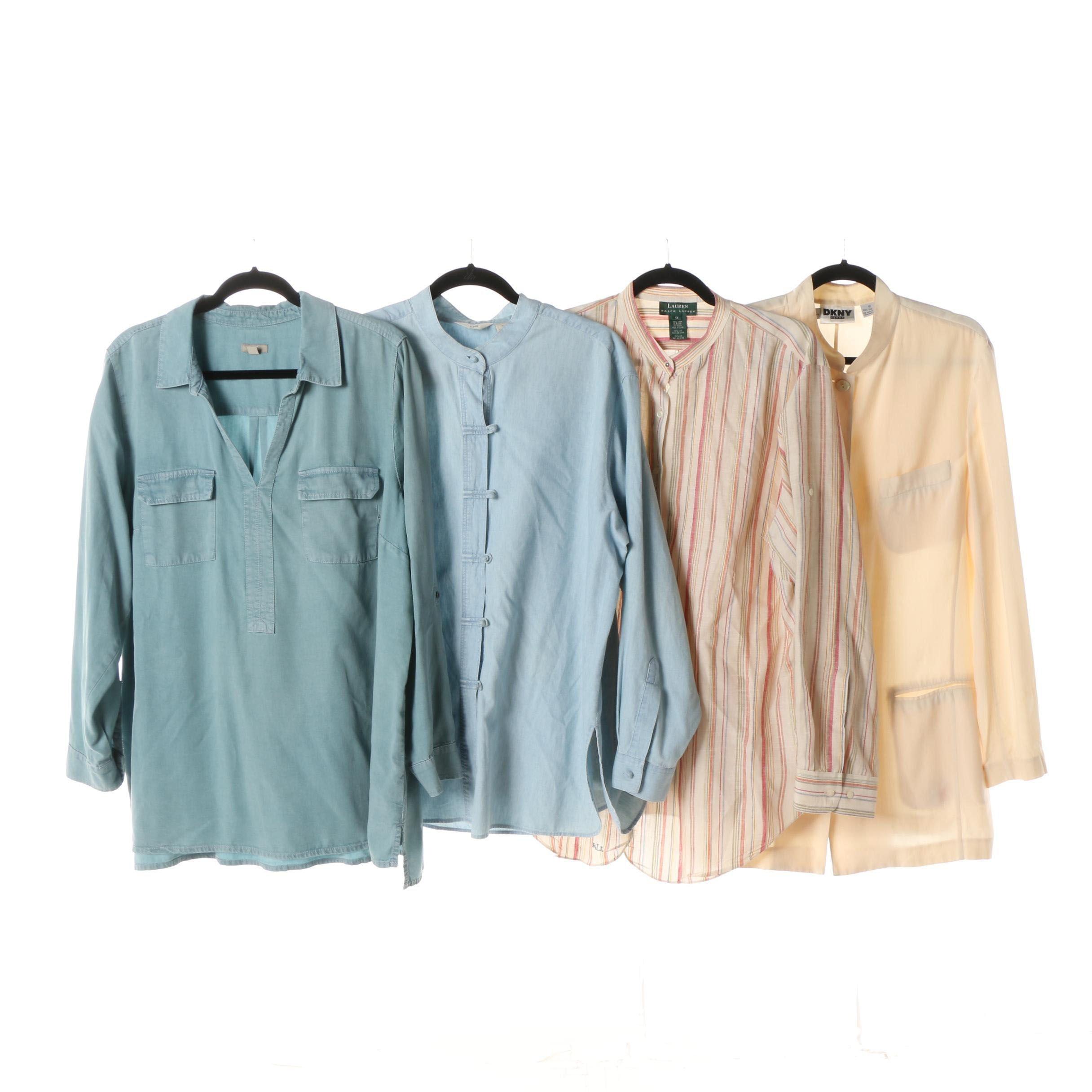 Women's J. Jill, DKNY Jeans and Lauren Ralph Lauren Tops and Jacket