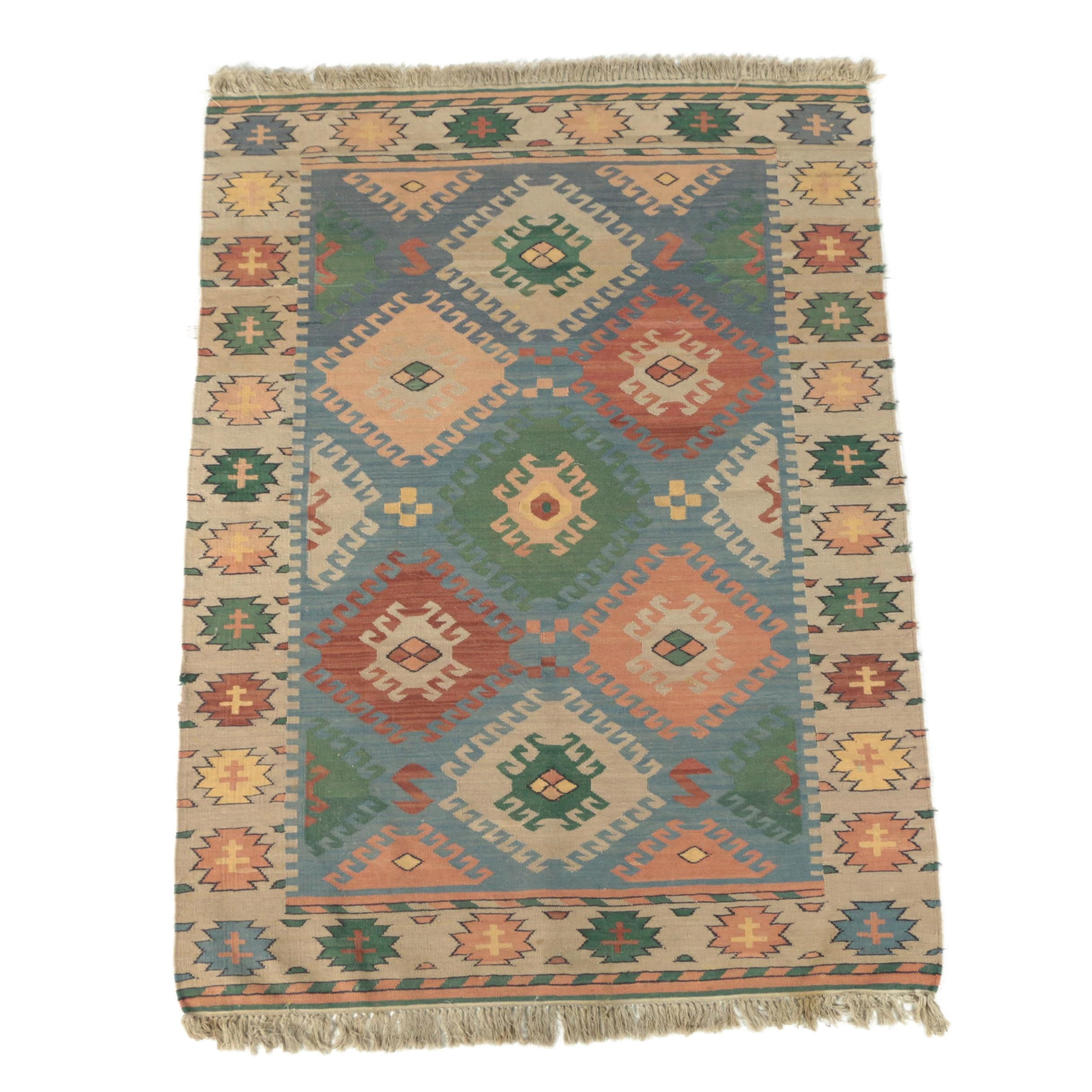 Handwoven Turkish Wool Slitweave Kilim