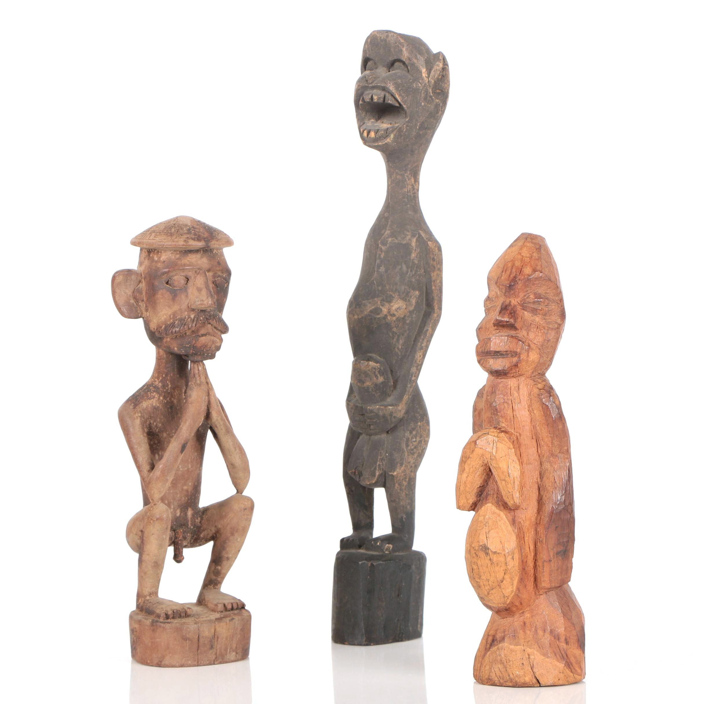 Carved Wood Figural Sculptures