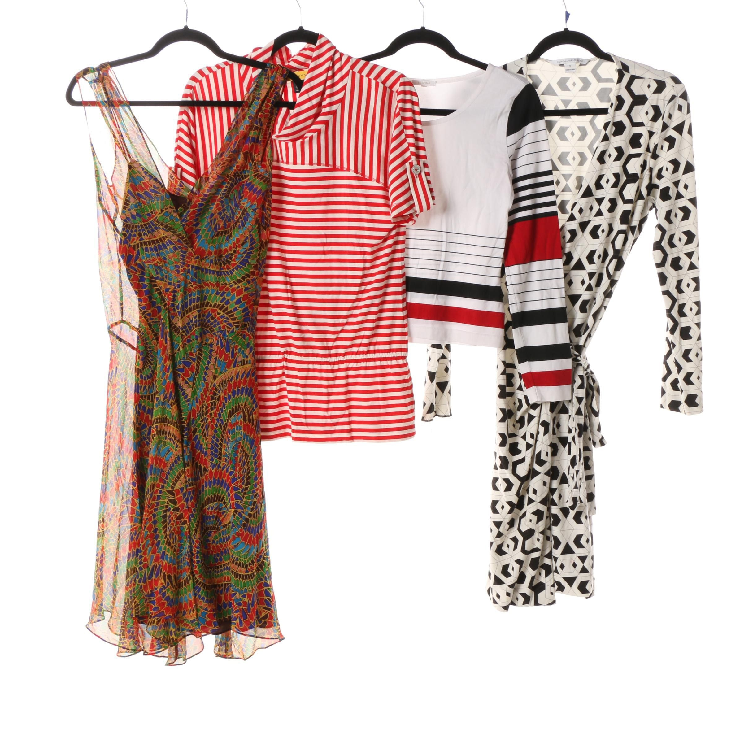 Women's Dresses and Tops including Diane von Furstenberg and St. John