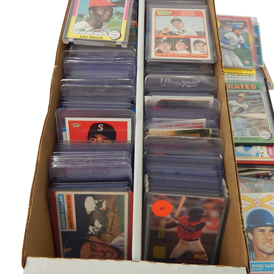 f66037282a 1600 Count Box Full of Baseball Cards with Brock, Mantle, Stargell, More