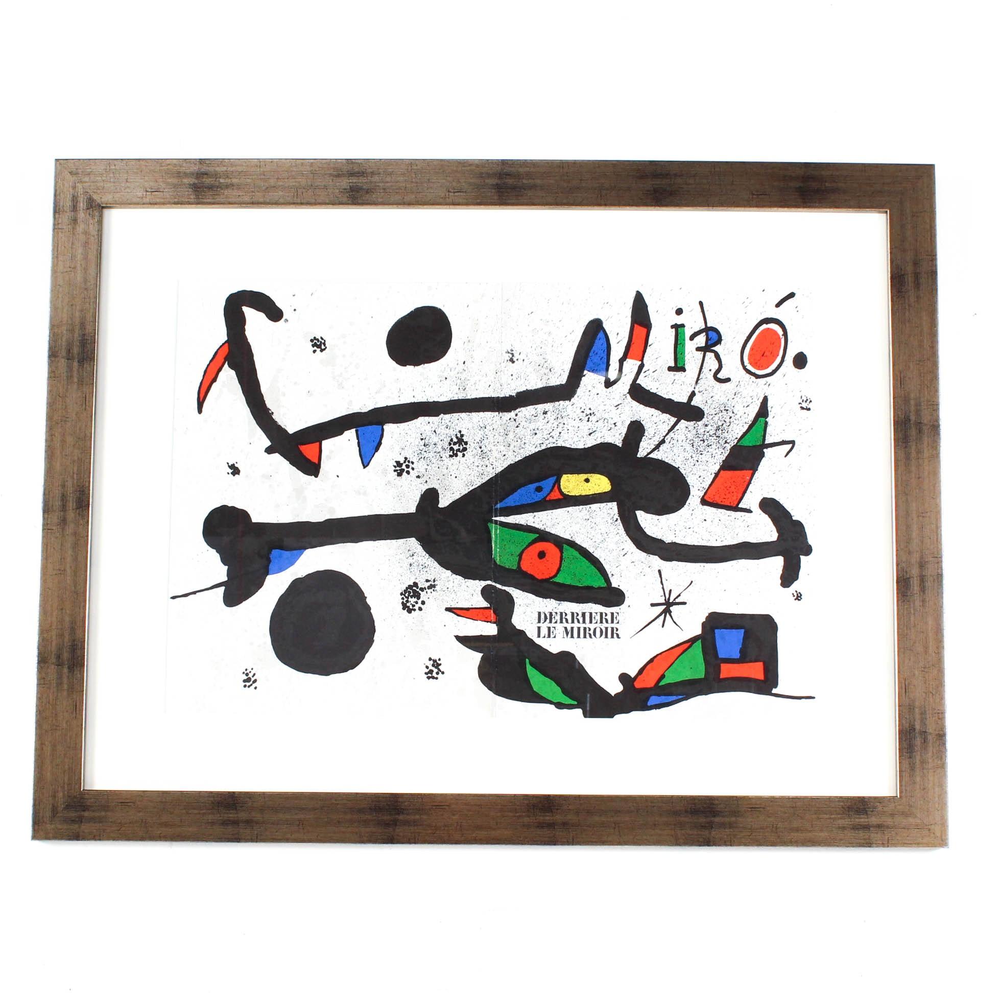 """Joan Miró 1967 Double-Page Lithograph for """"Derriere Le Miroir"""""""