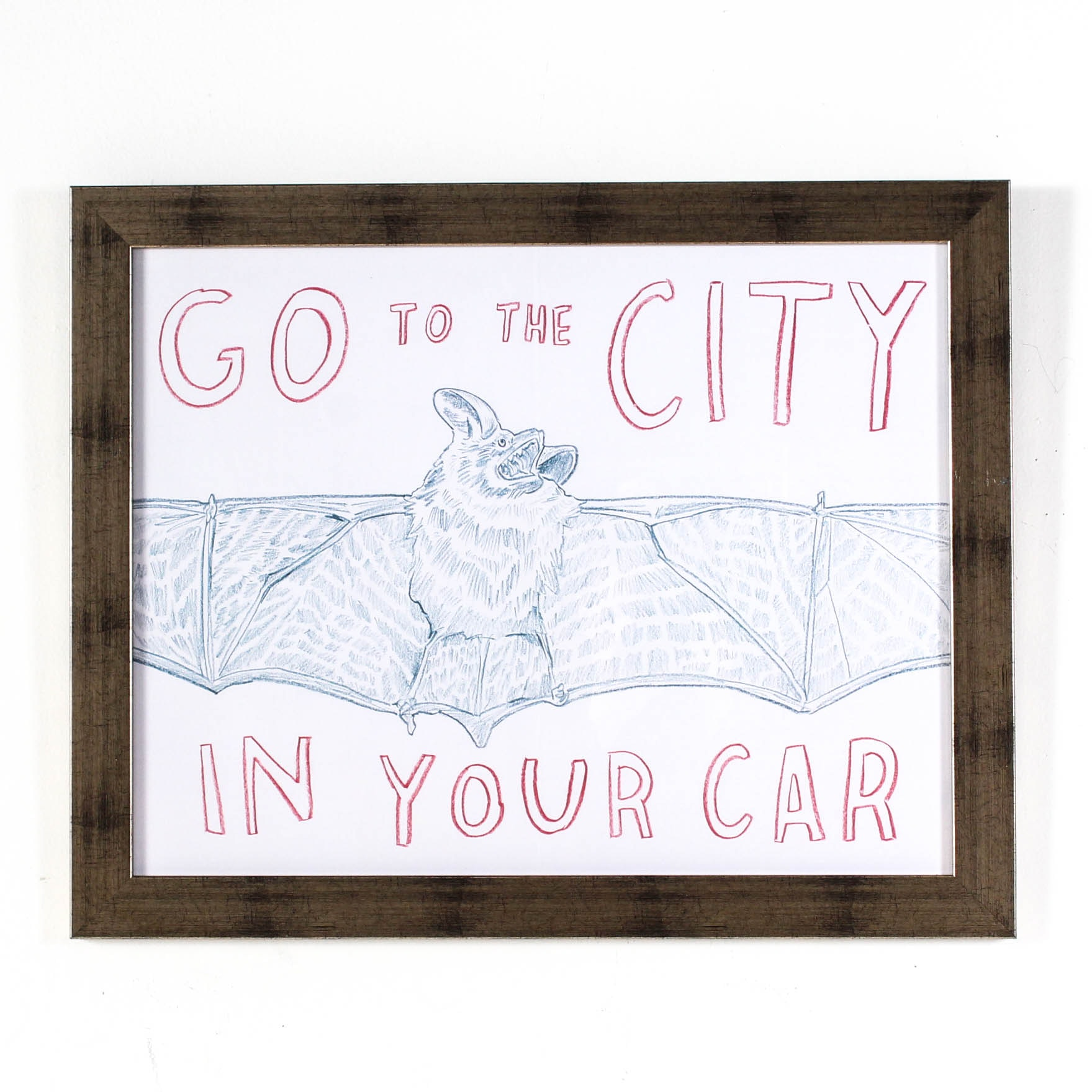 "Offset Lithograph after Dave Eggers ""Go to the City in Your Car"""
