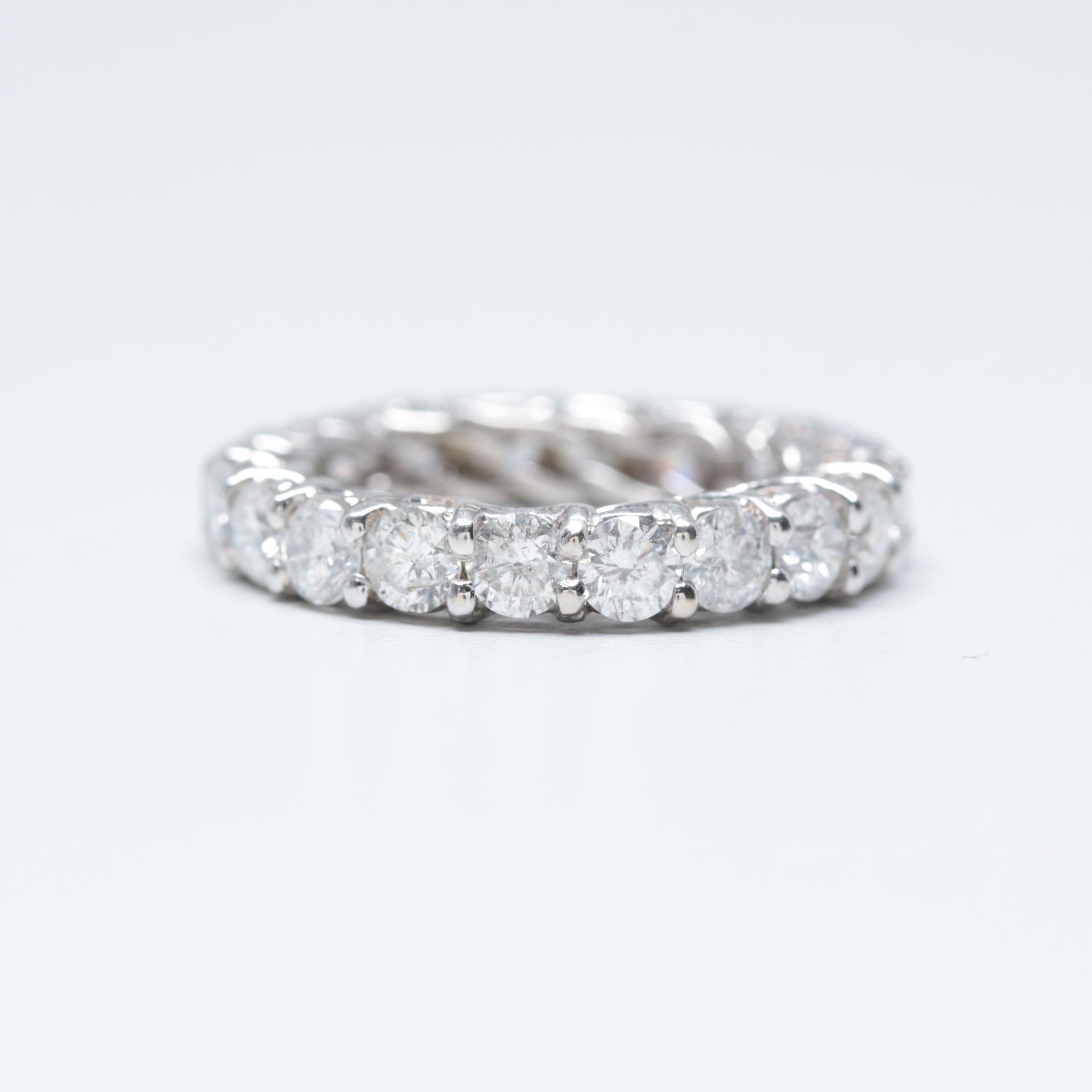 14K White Gold 2.94 CTW Diamond Eternity Ring